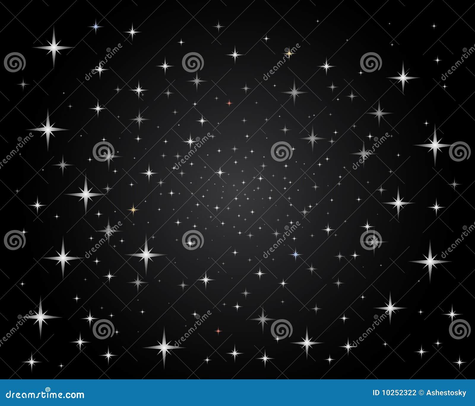 Jaskrawy nocnego nieba iskrzaste gwiazdy