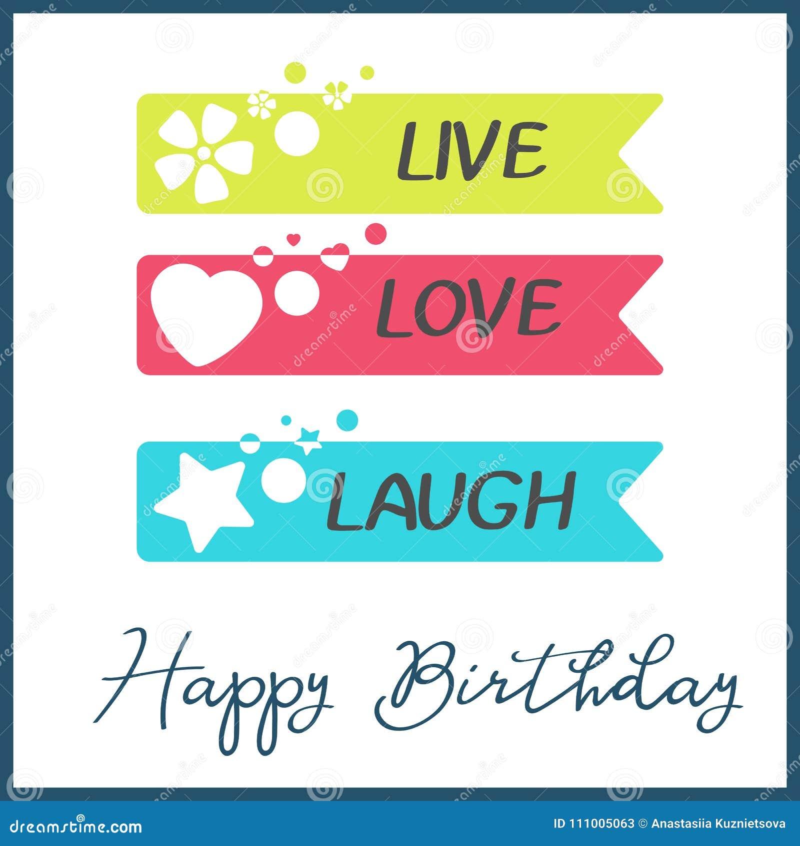 Jaskrawy wszystkiego najlepszego z okazji urodzin kartka z pozdrowieniami w minimalisty stylu Nowożytna urodzinowa odznaka lub et