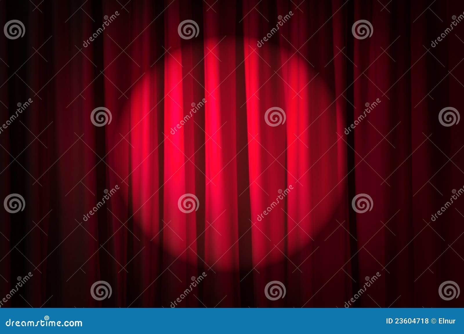 Jaskrawy zaświecać zasłony - theatre pojęcie