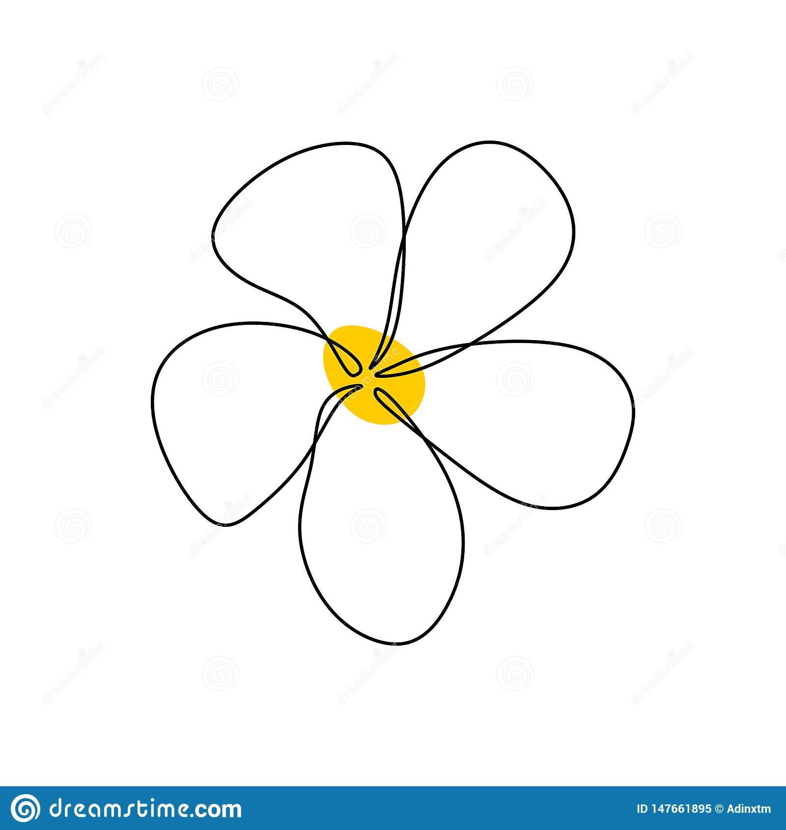 Jasmine continuous one line drawing balinese flower minimalist design