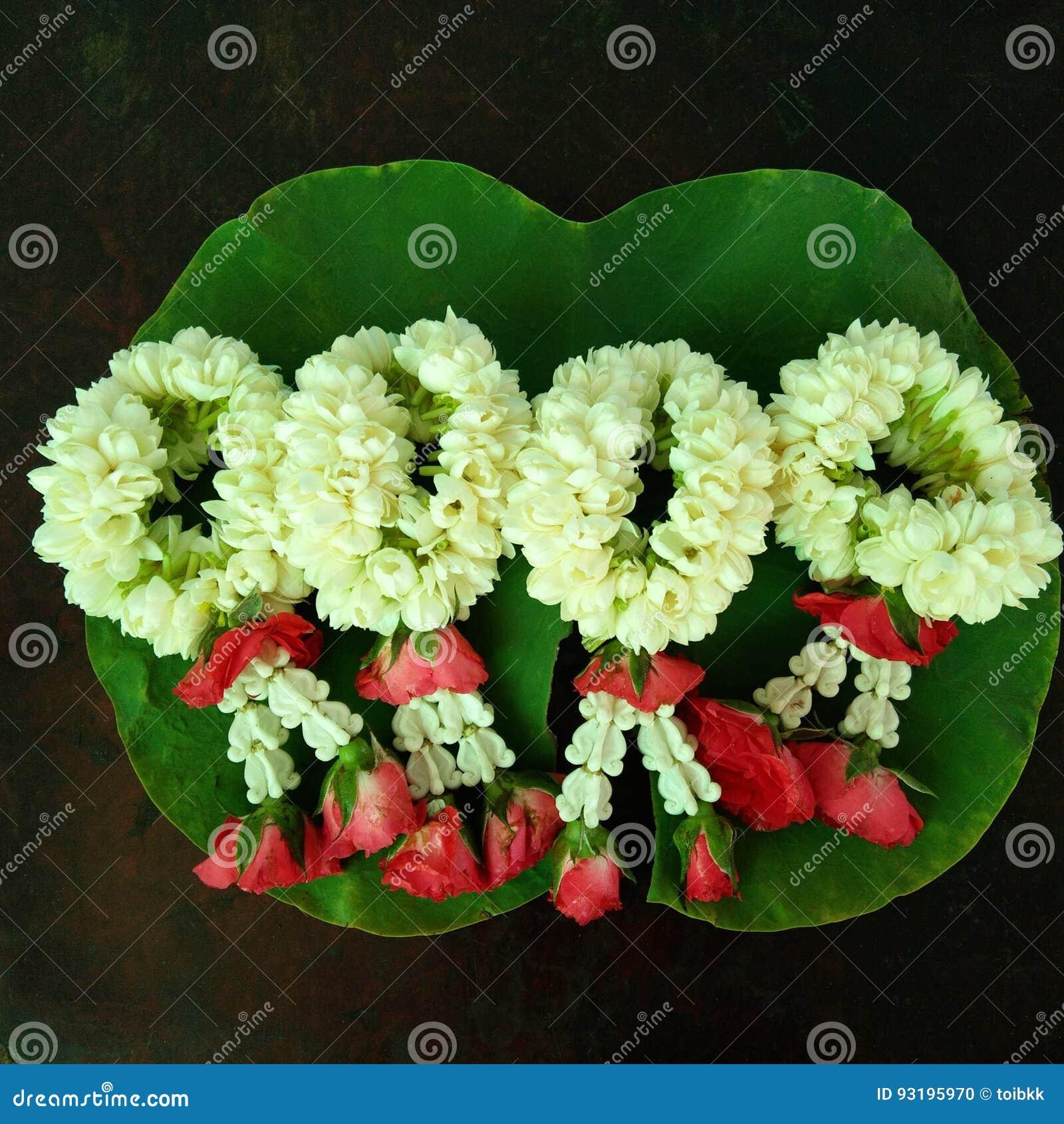Jasmine Flower Garlands Stock Photo Image Of Pattern 93195970