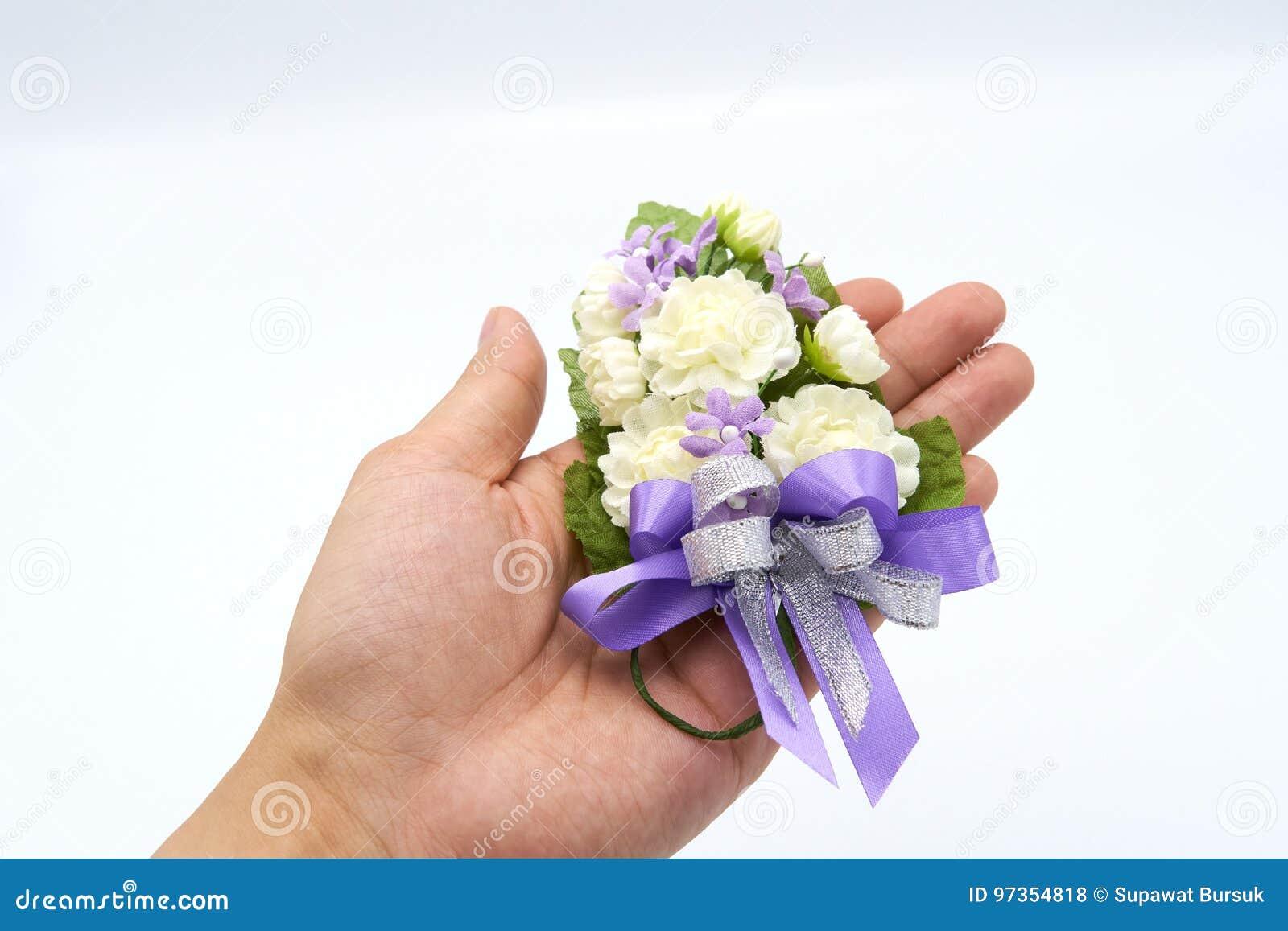 Jasmine Handmade Flowers Made From Handmade On The Palm Of The Hand