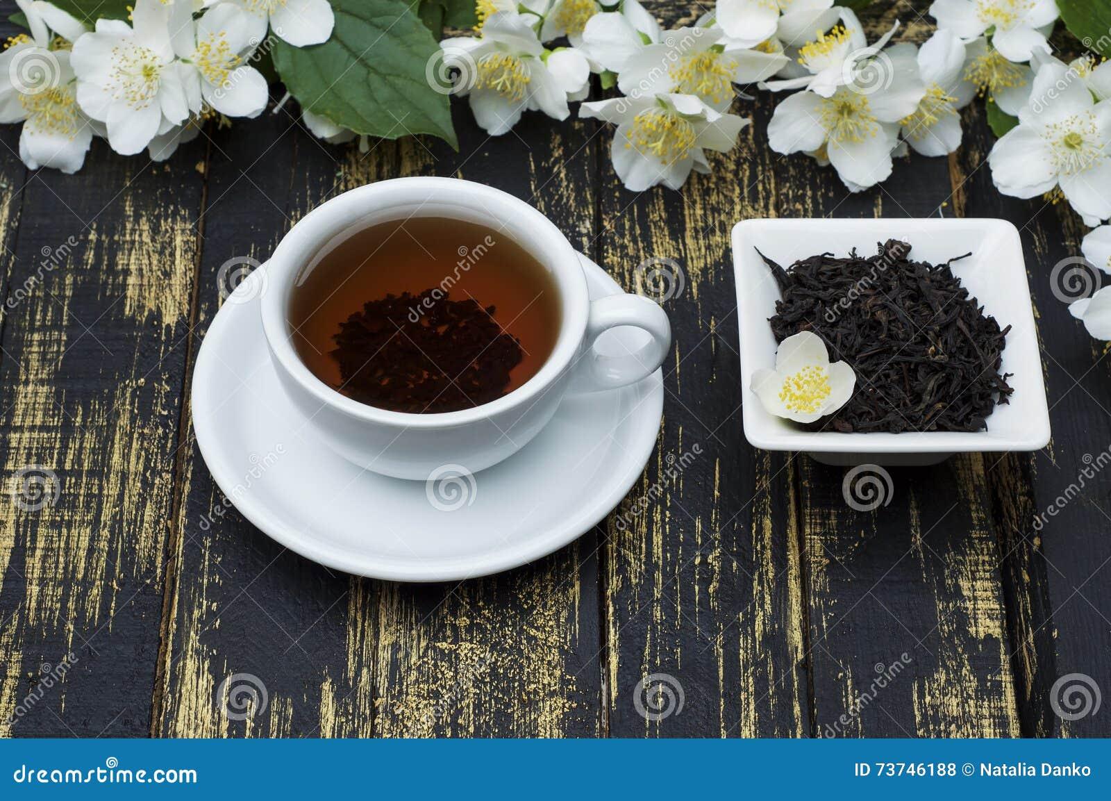 Jasmine Tea With Jasmine Flower Stock Photo Image Of Healthy