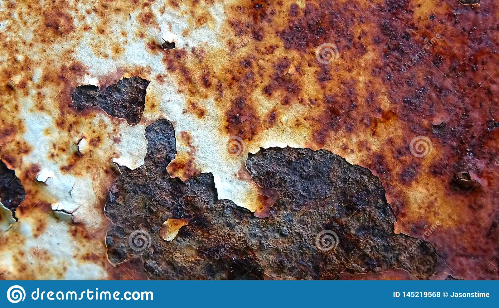 Jasna żelazna ośniedziała tło ilustracja
