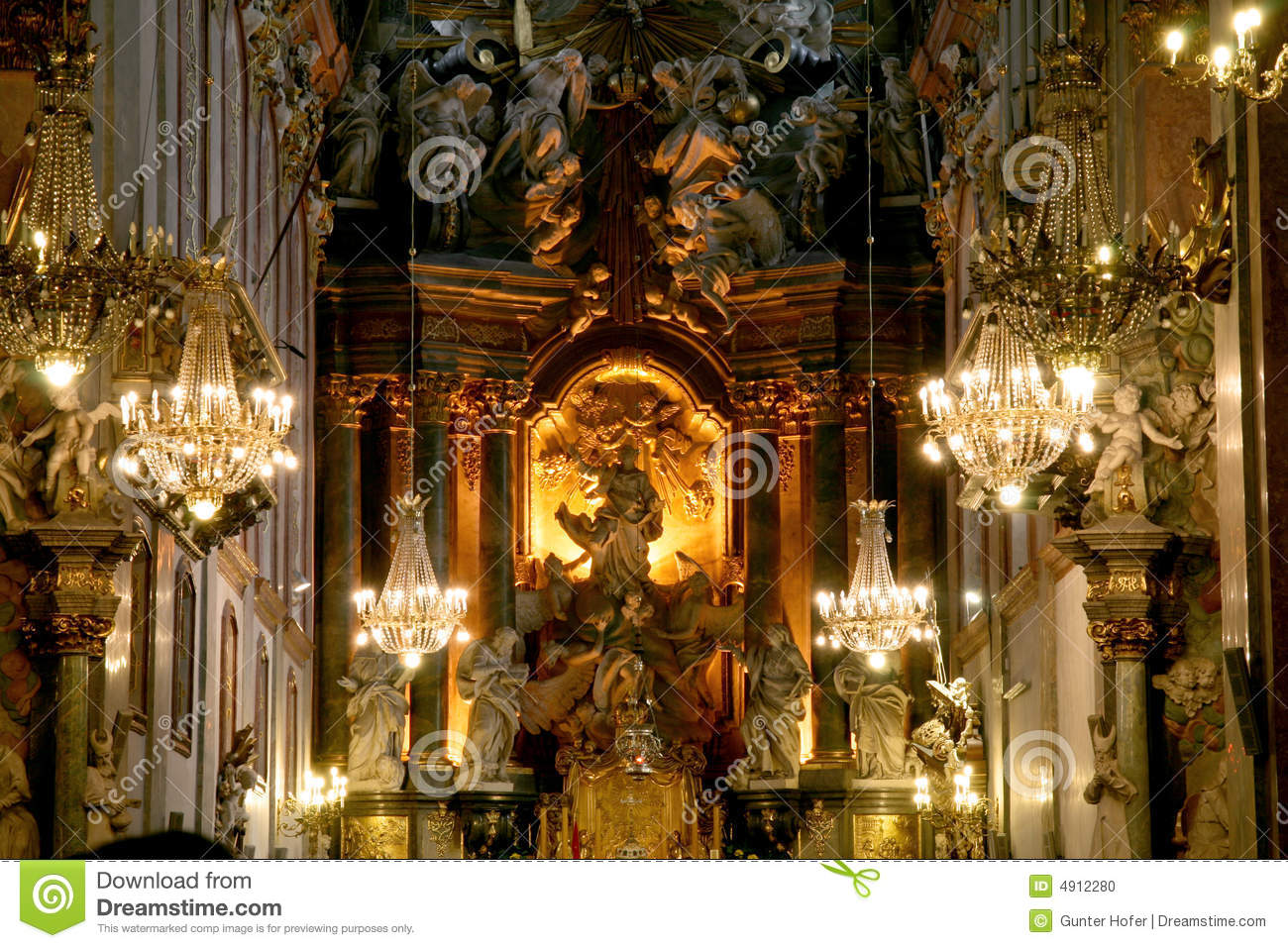 rather nice monastery in southern Poland showing the interior where ...