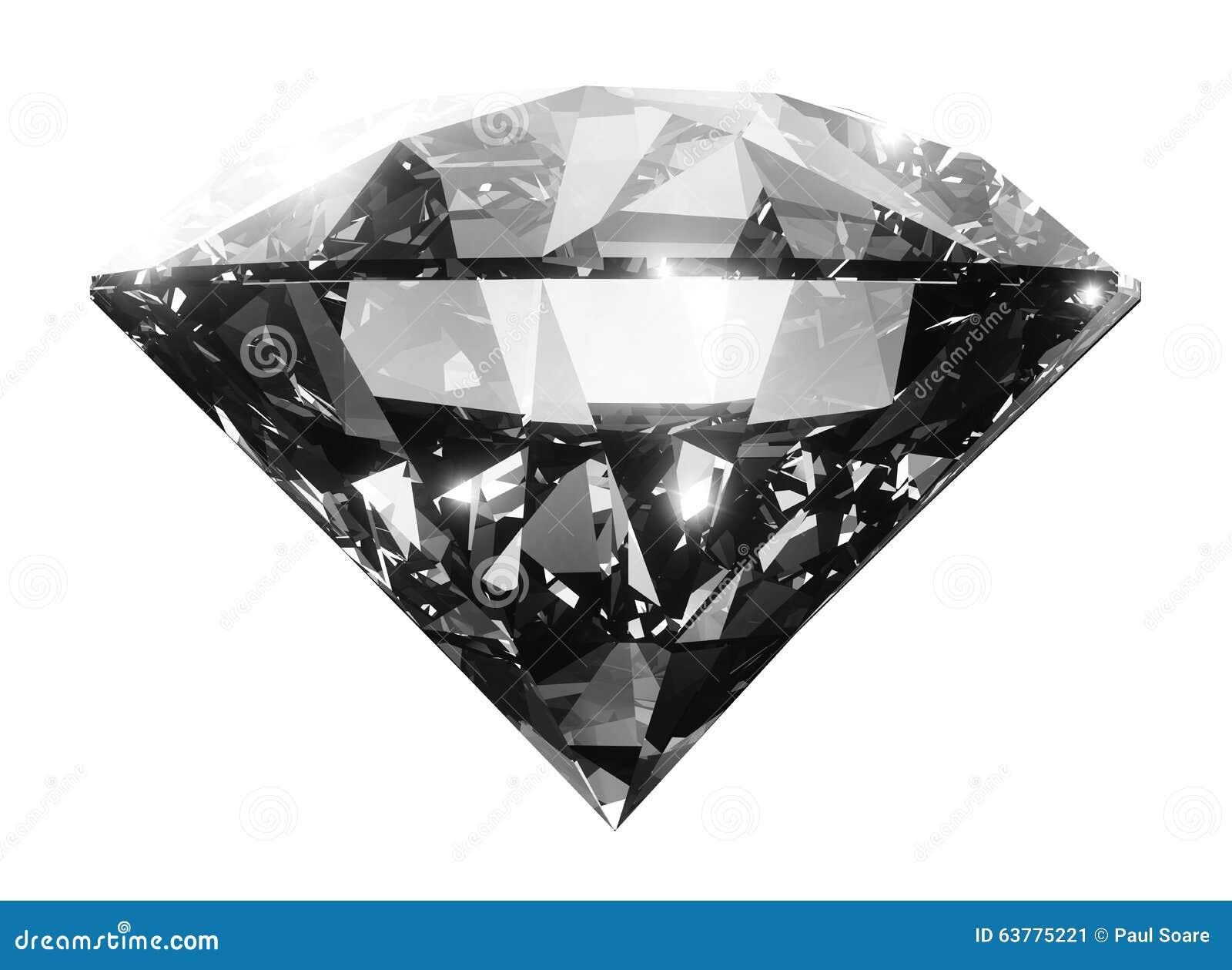 Jasny duży diamentowy kryształ