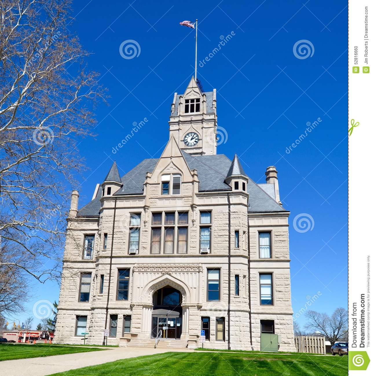 Indiana jasper county tefft - Jasper County Courthouse Editorial Image