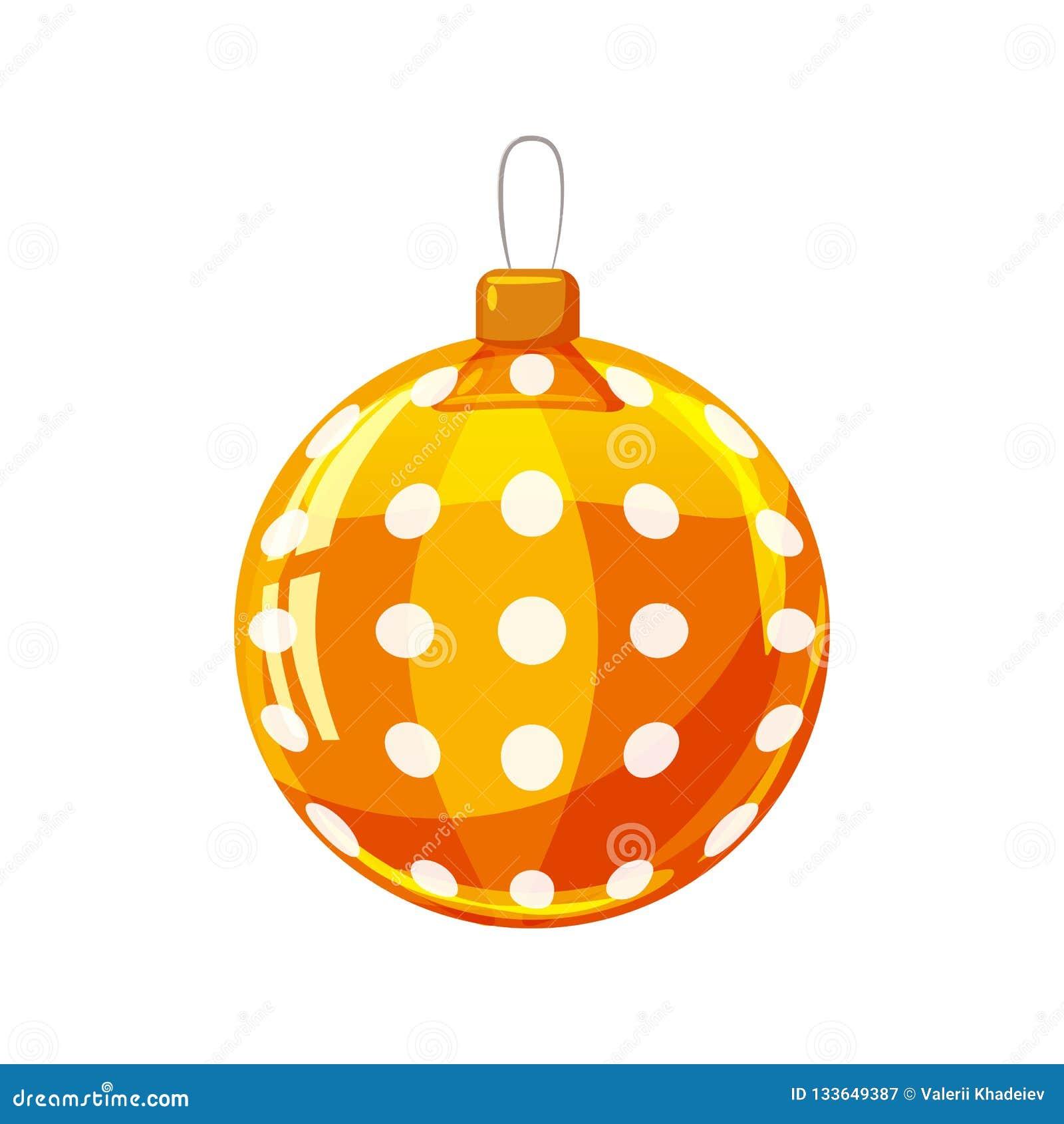 Jaune De Boule De Noël, Or, Couleur Blanche Décoré Sur Le Fond