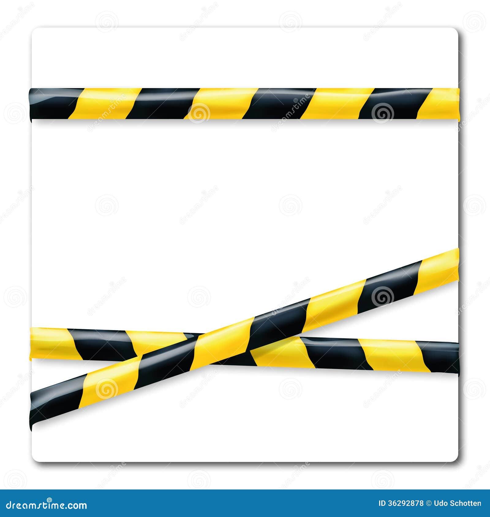 jaune et noir de bande de barri re photos libres de droits image 36292878. Black Bedroom Furniture Sets. Home Design Ideas