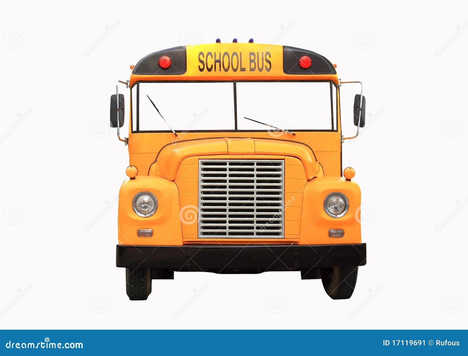 Jaunissez L'autobus Scolaire D'isolement Sur Le Blanc ...