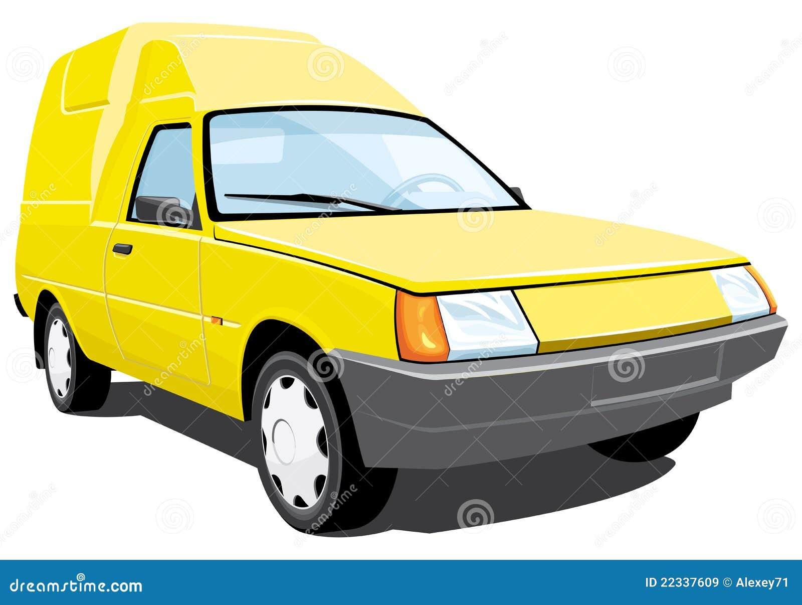 jaunissez la camionnette de livraison images libres de droits image 22337609. Black Bedroom Furniture Sets. Home Design Ideas