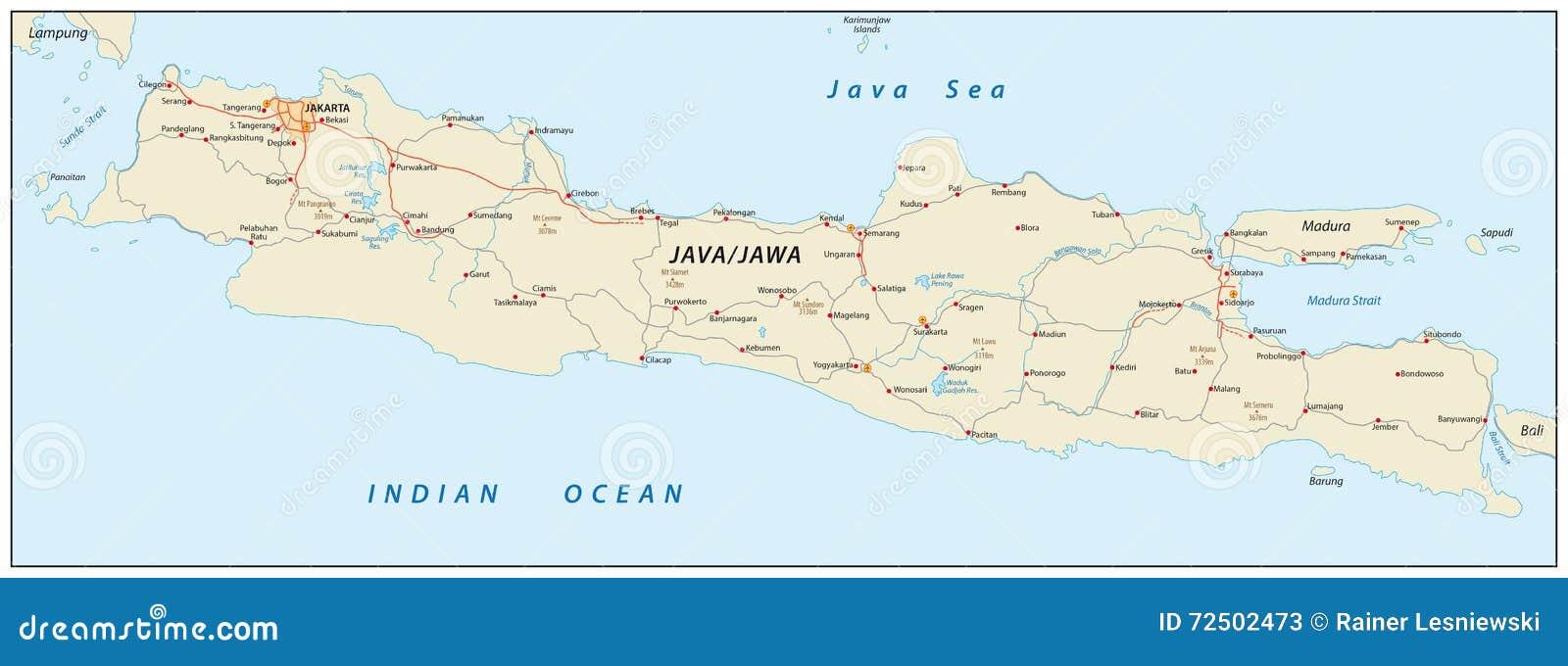 Java map Indonesia stock illustration Illustration of outline
