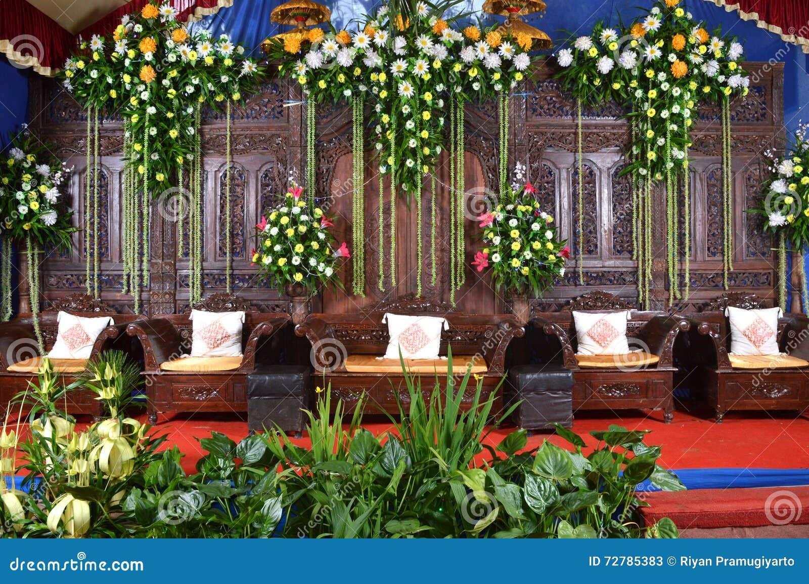 Java Wedding Decoration Dekorasi Pernikahan Jawa Stock