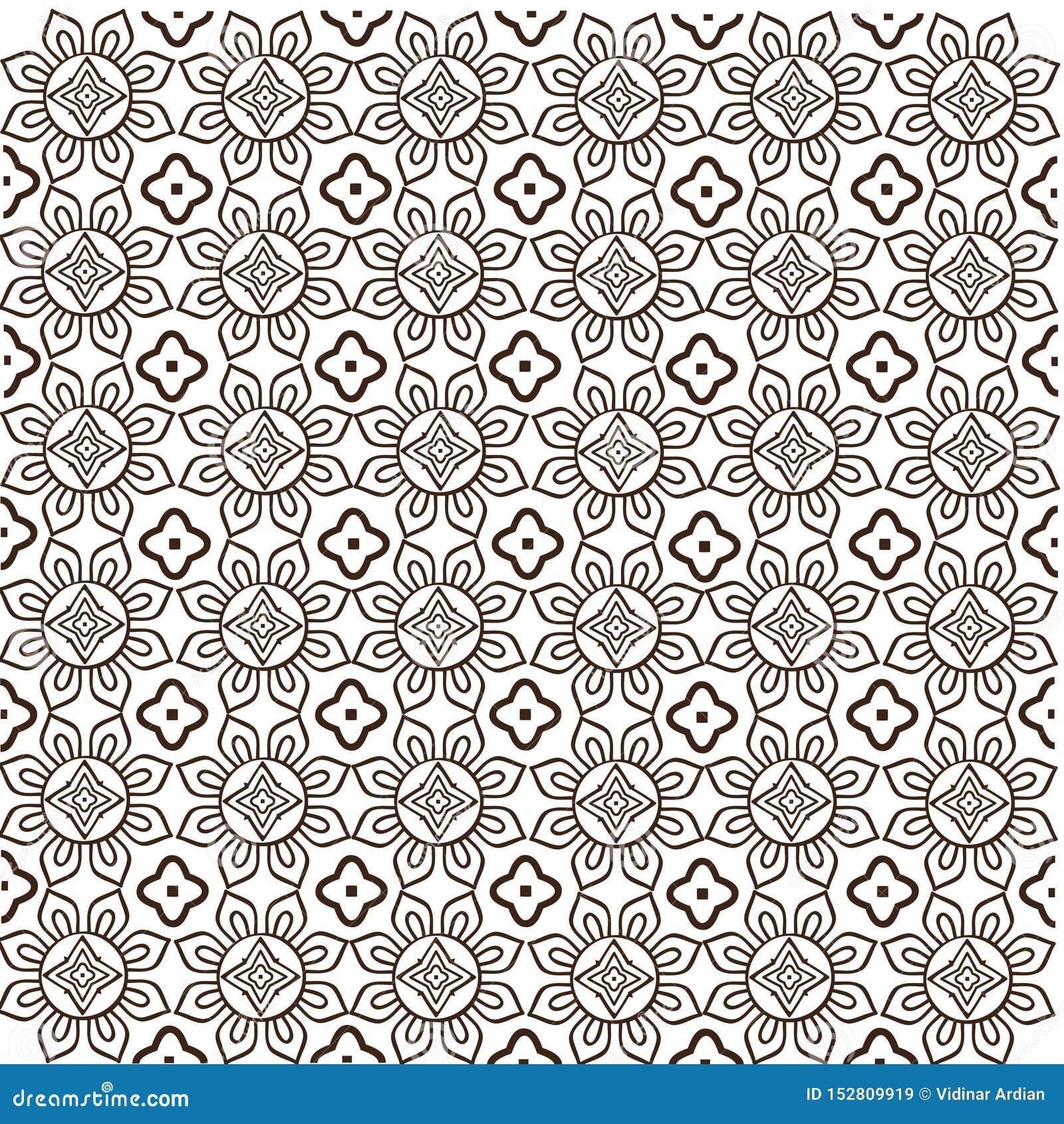 Javanese Batik Seamless Pattern Vector Stock Image