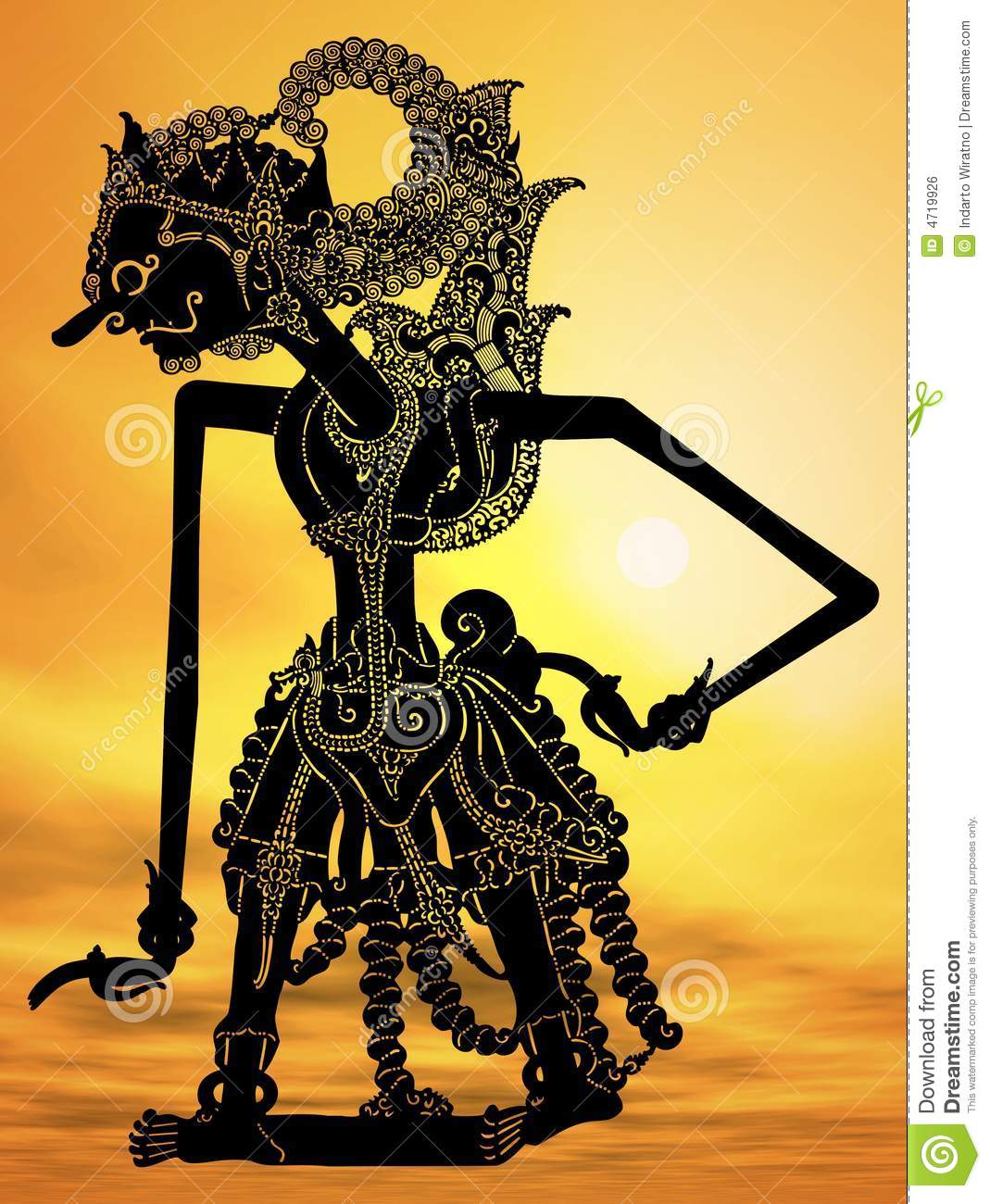javanese puppet stock illustration illustration of brown 4719926 dreamstime com
