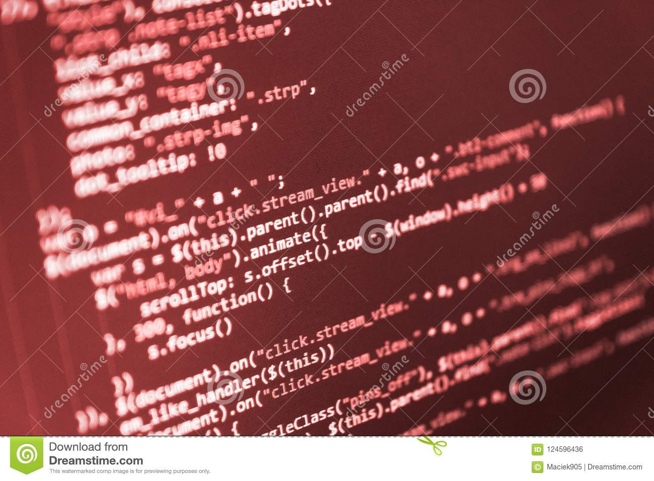 Python Programming Developer Stock Photo - Image of code, cyber