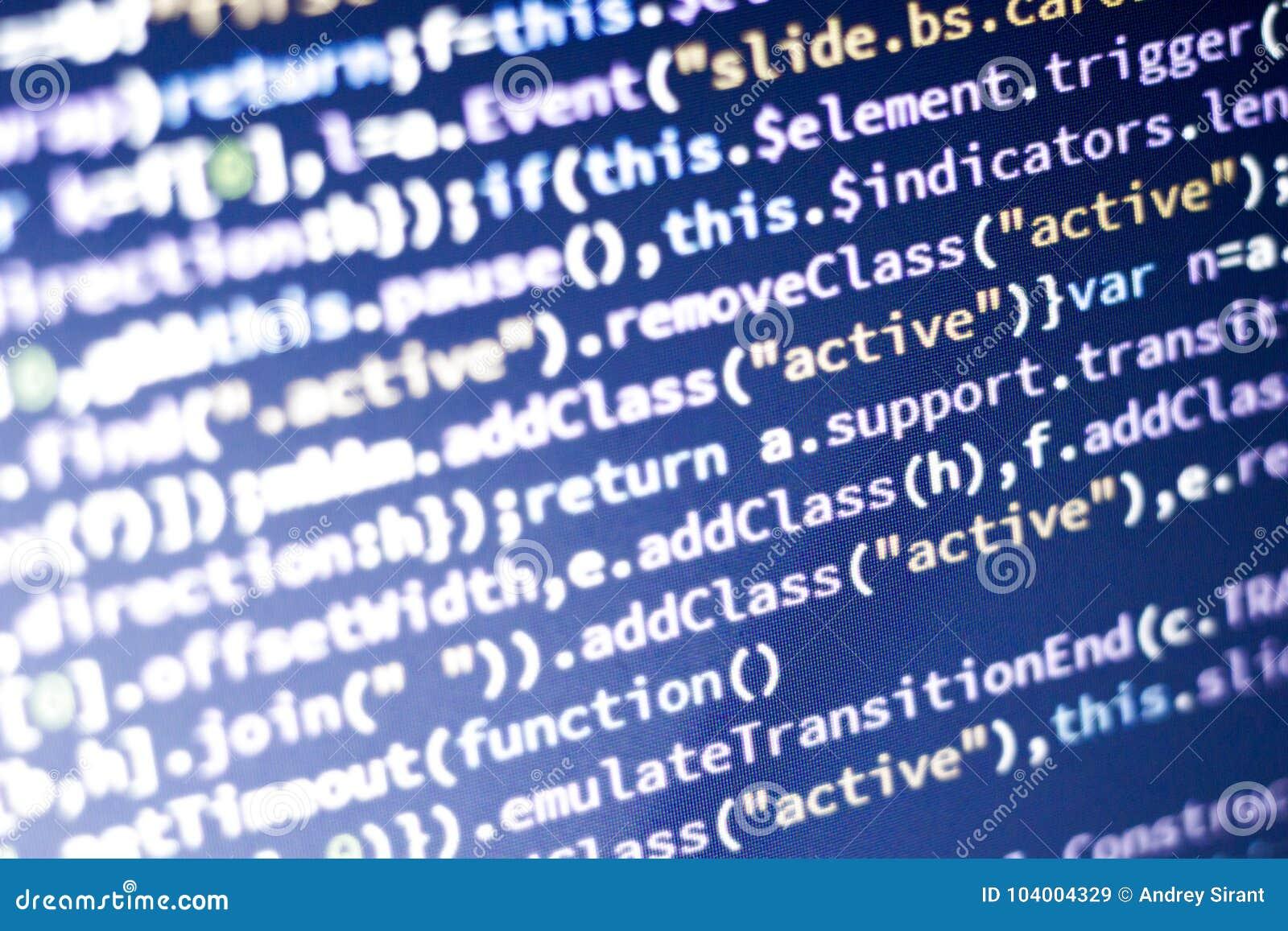Javascript Code  Computer Programming Source Code  Abstract Screen