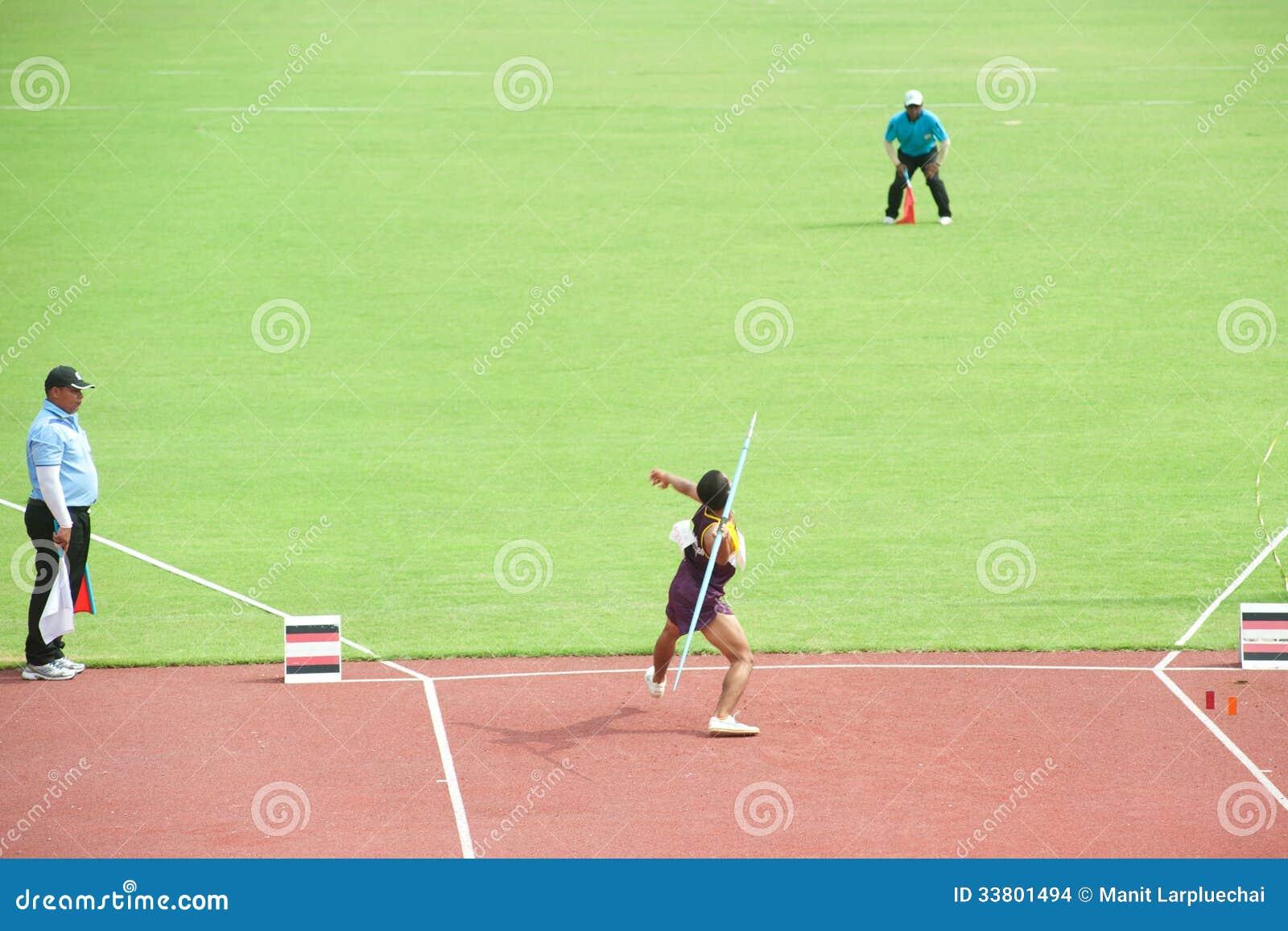Javelin throw field