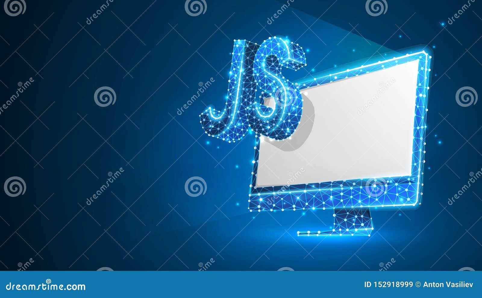 Jawa pisma cyfrowania języka znak na białym komputerowym monitorze Przyrz?d, programowanie, rozwija poj?cie Abstrakt, cyfrowy, wi