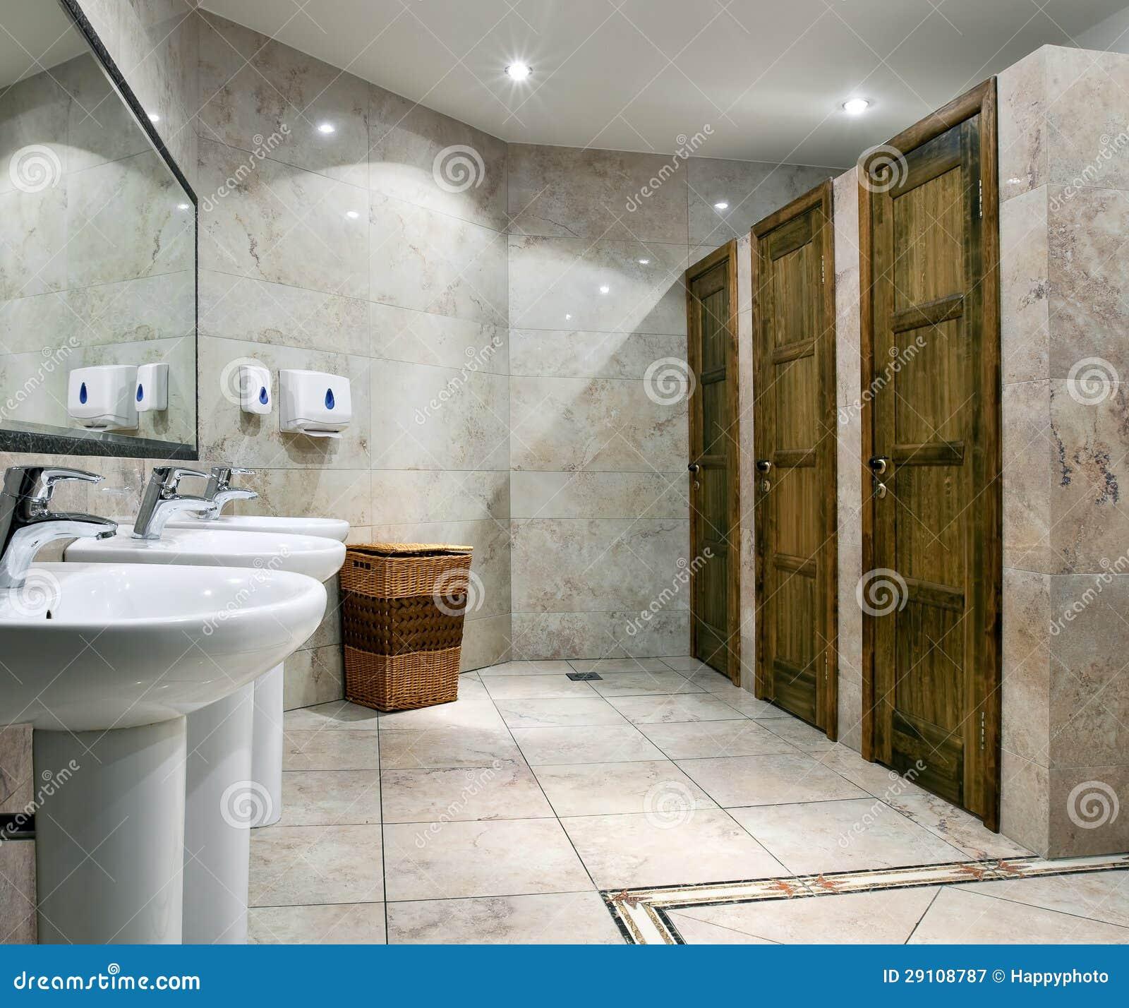 Jawny toalety wnętrze