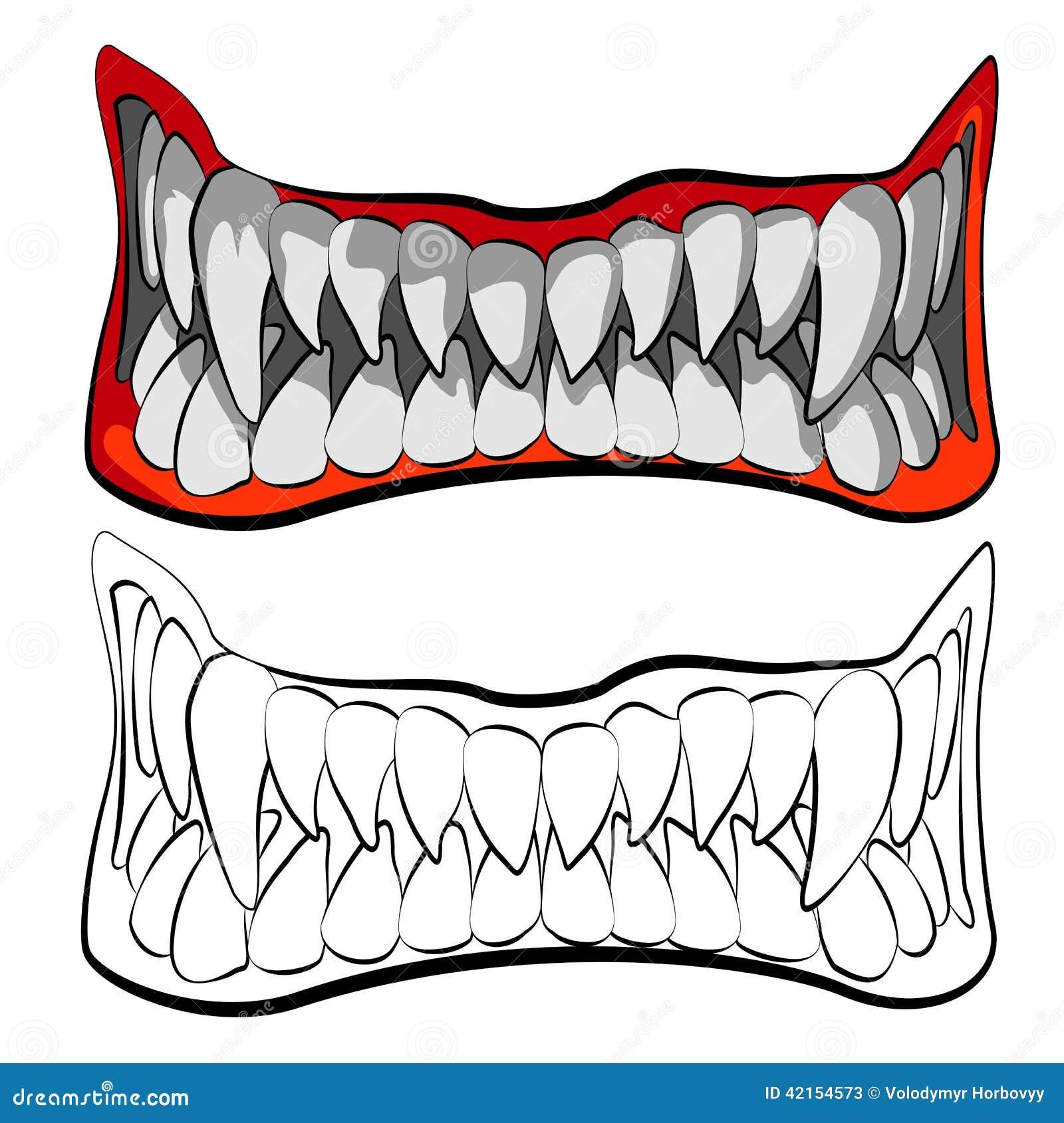 The jaws stock vector. Image of danger, closeup, dental ...