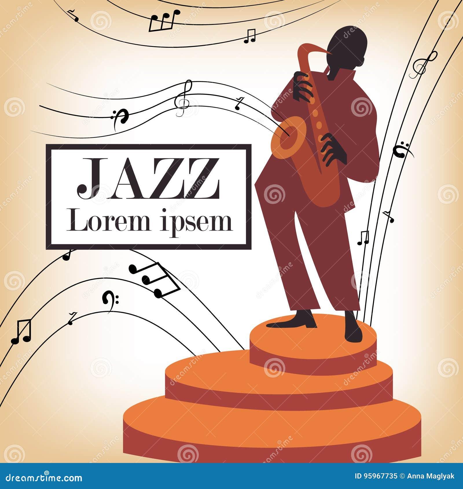 Jazz-band avec le chanteur, saxophone