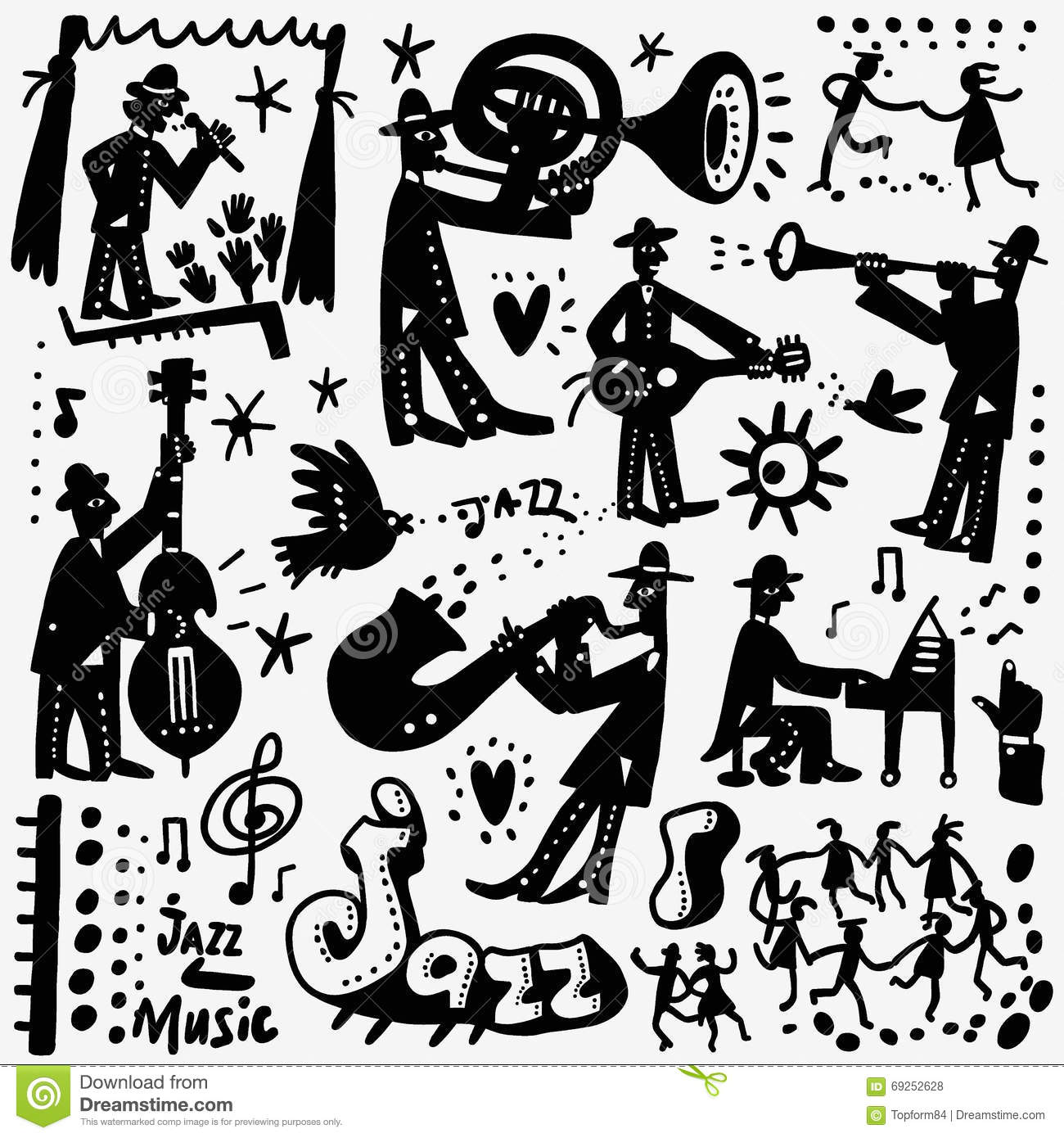 Free Jazz Cartoon Cliparts, Download Free Clip Art, Free ...