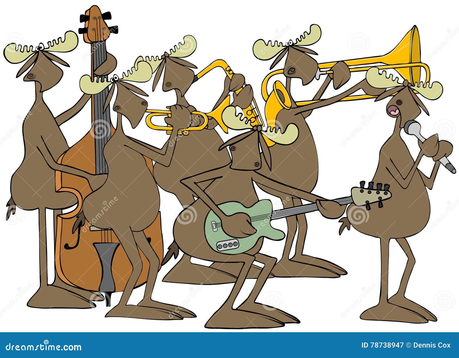 Jazz-band d orignaux de Taureau