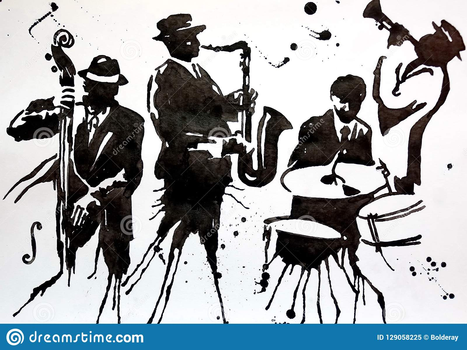 Jazz Band Jazz Swing Orchestra Silhouettes International
