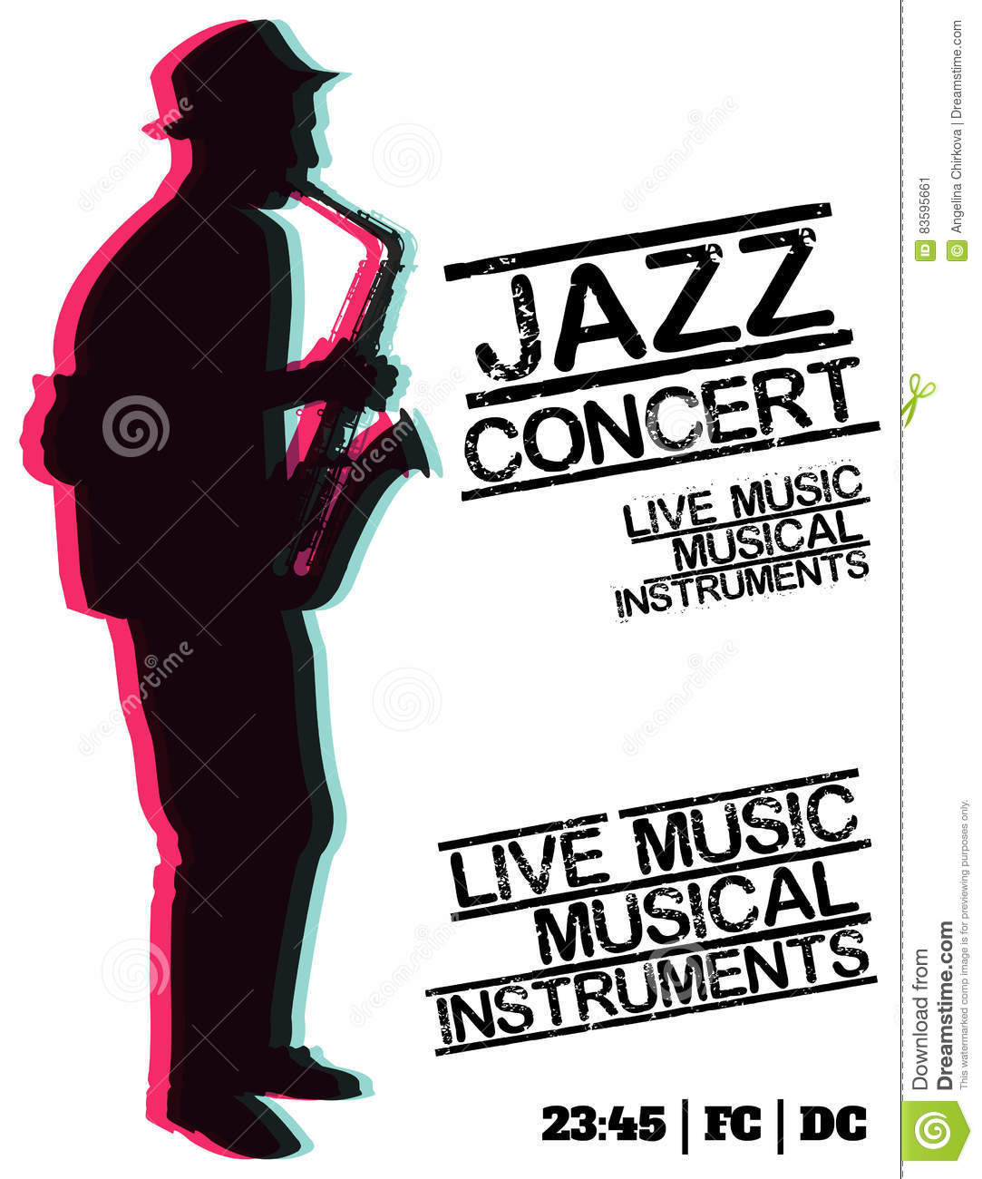 Download Jazz Blues Music Concert Poster Background Template Stock Vector
