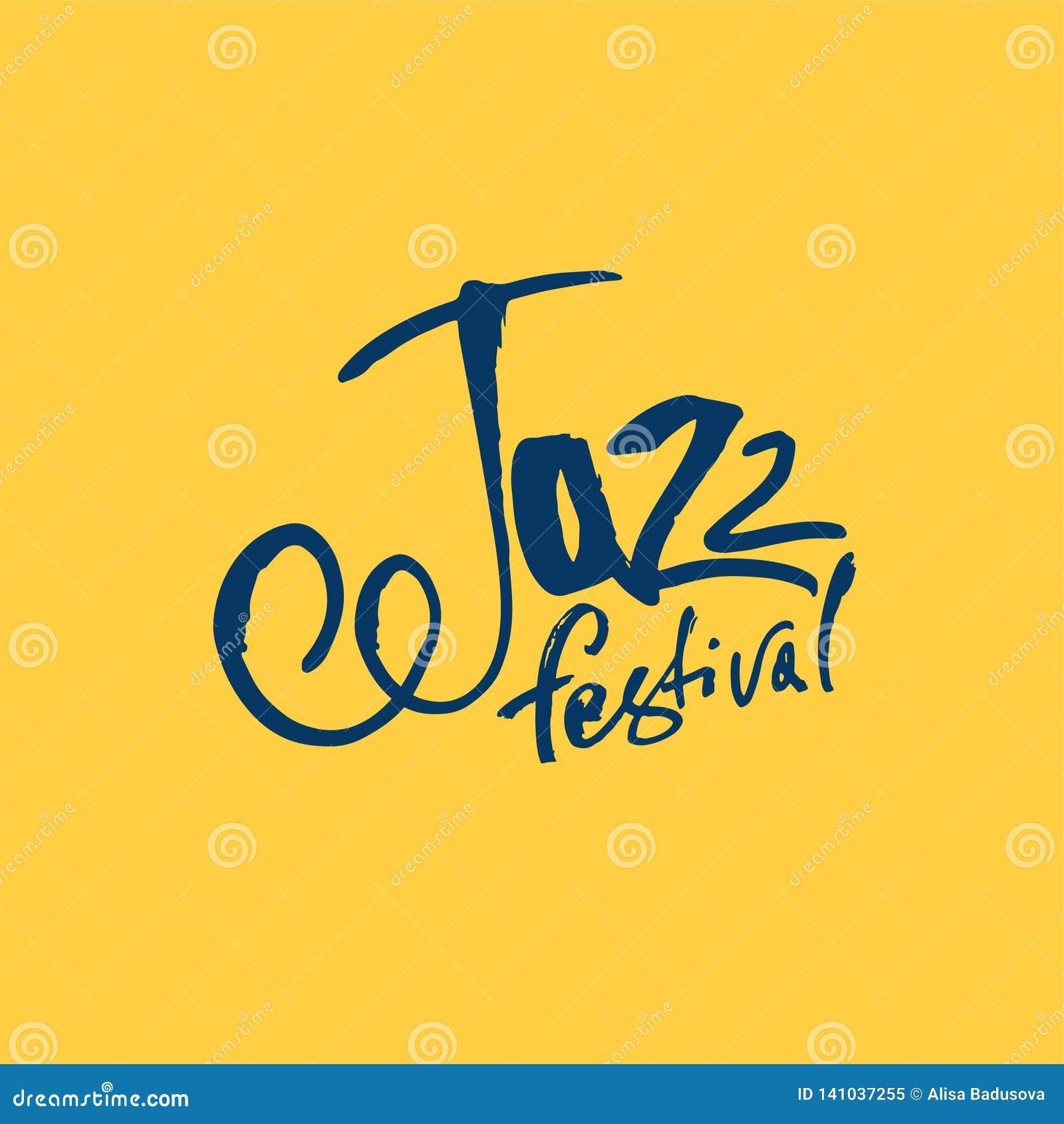 Jazz Borstepennbokstäver Vektorfärgpulverinskrift Modern stil för kalligrafi music poster Göra perfekt för musikhändelser