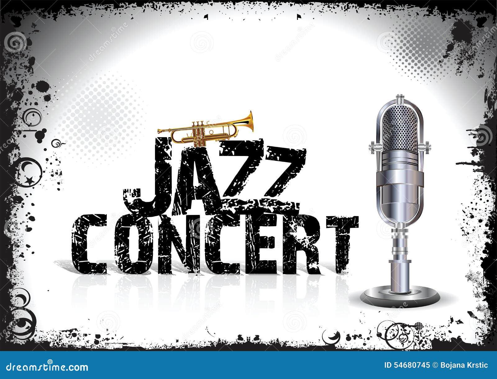 Jazz Concert Poster Stock Illustration - Image: 54680745