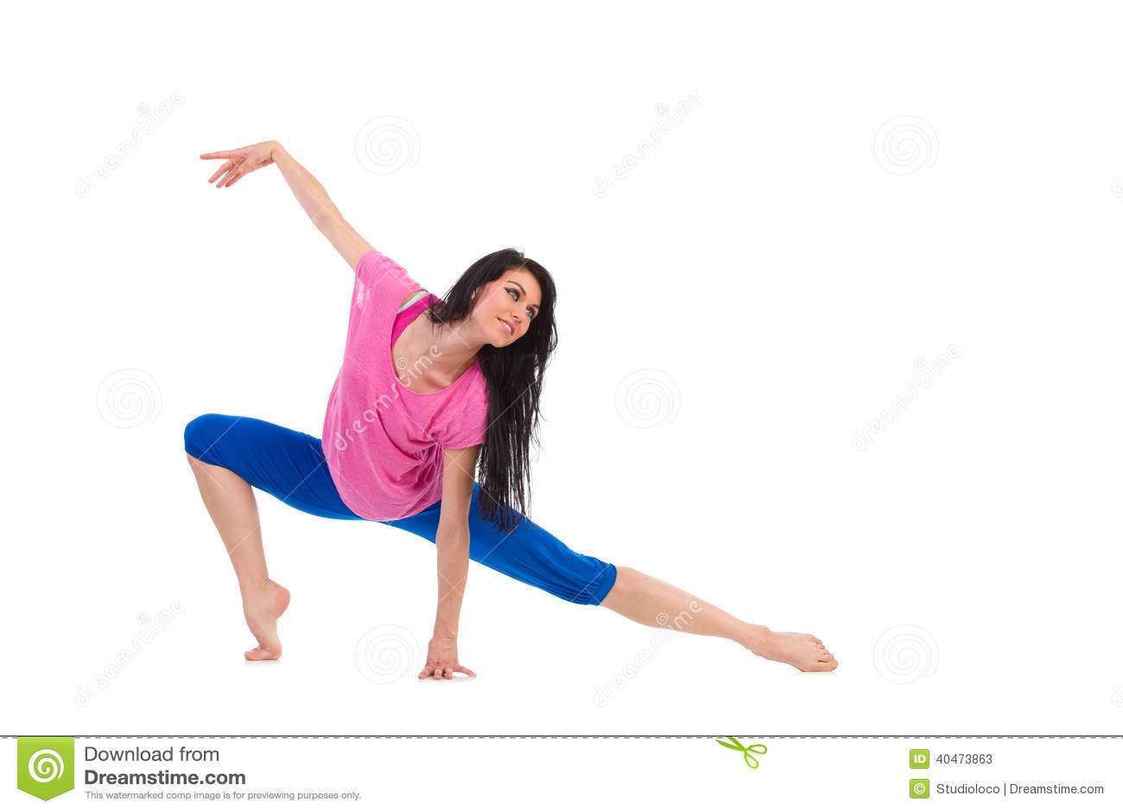 jazz dancer stock image image of exercise barefoot