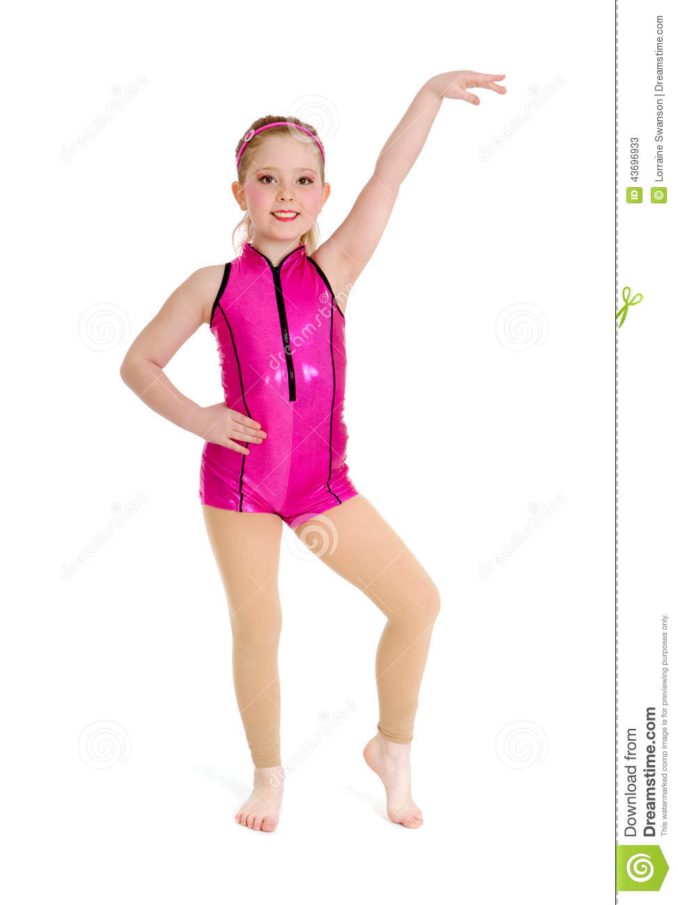 Jazz Dancer Girl in Pink on