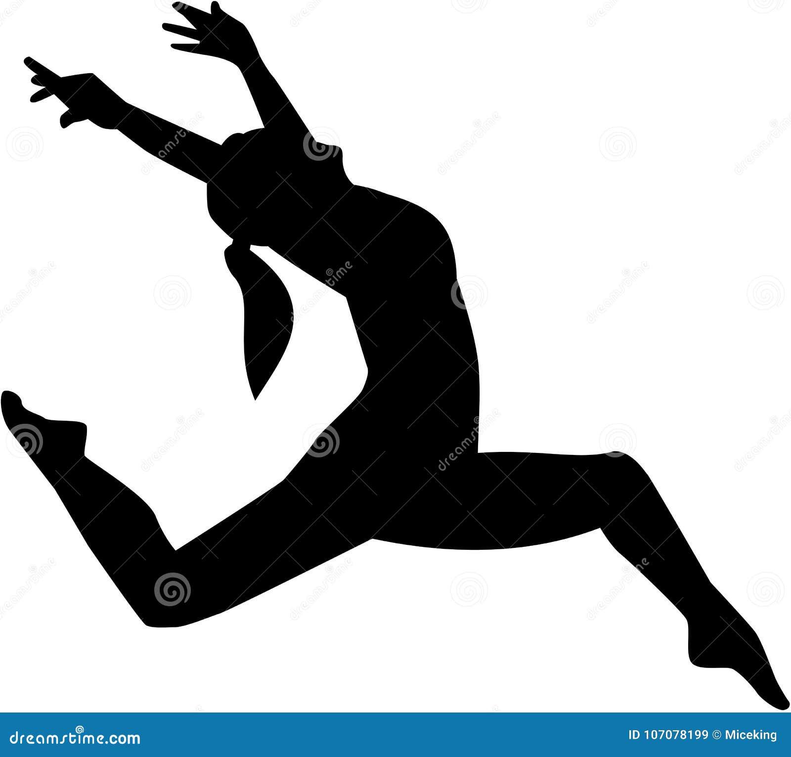 Jazz Dancer Woman Stock Vector Illustration Of Jumping 107078199