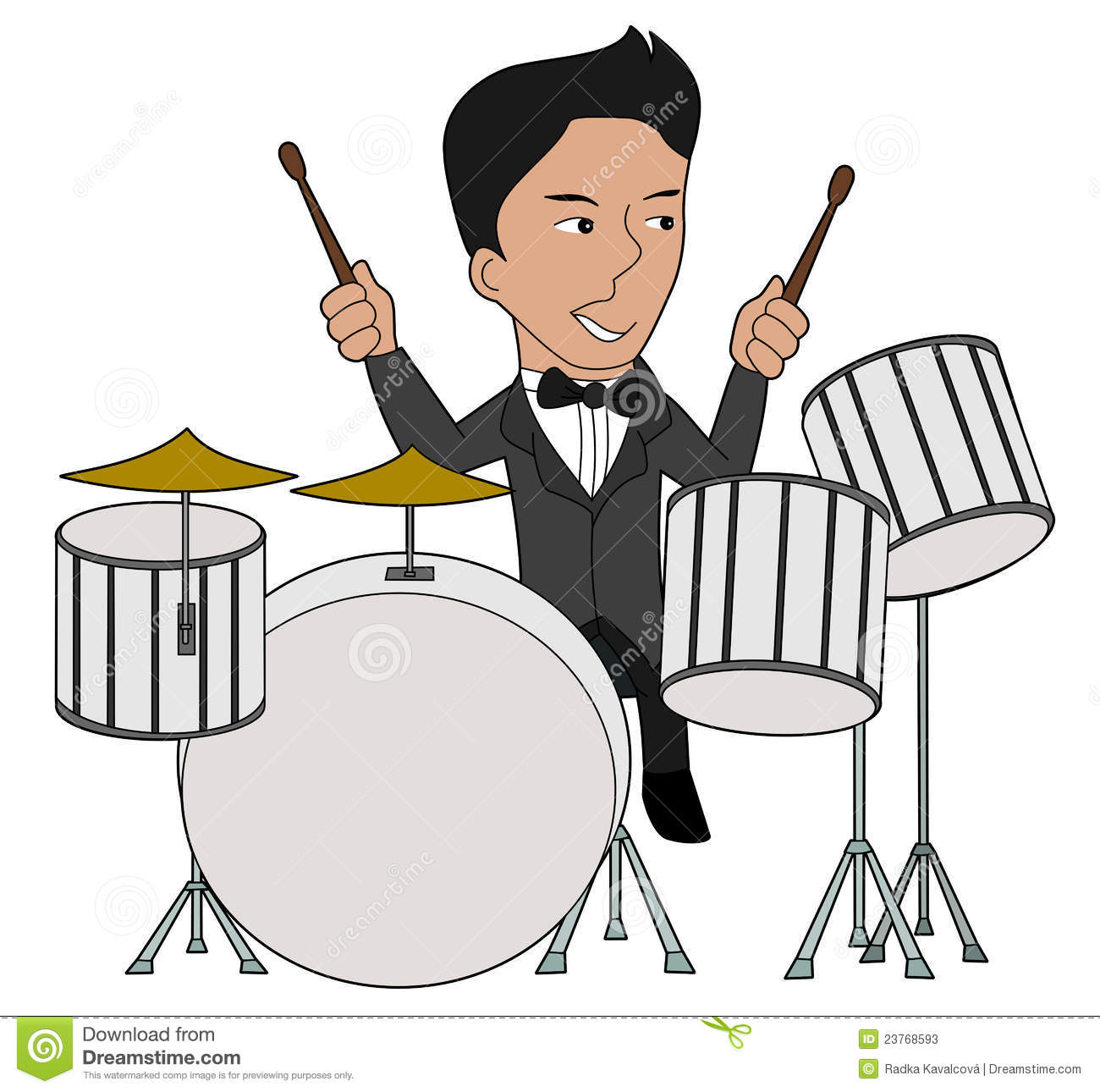 Jazz Drummer Cartoon Stock Photos - Image: 23768593