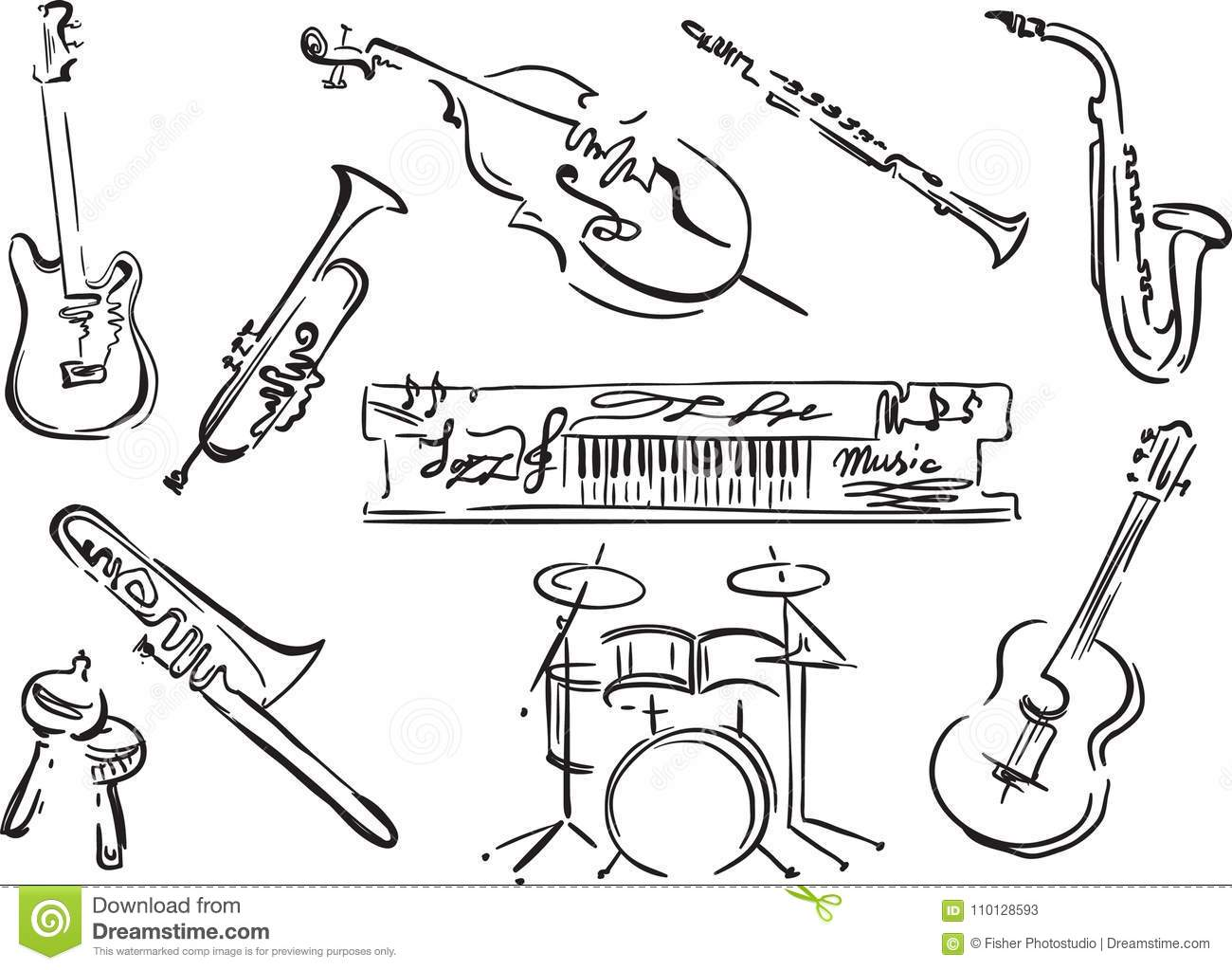 Jazz Festival Stock Vector Illustration Of Cover Live 110128593