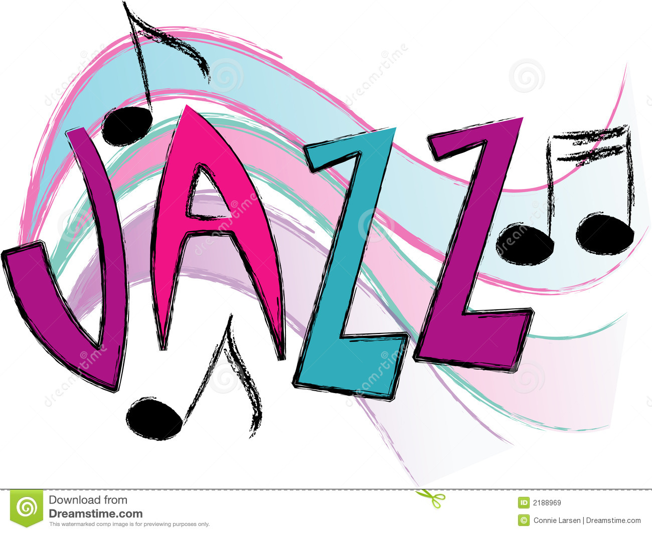 Jazz music/eps stock vector  Illustration of song, notes - 2188969