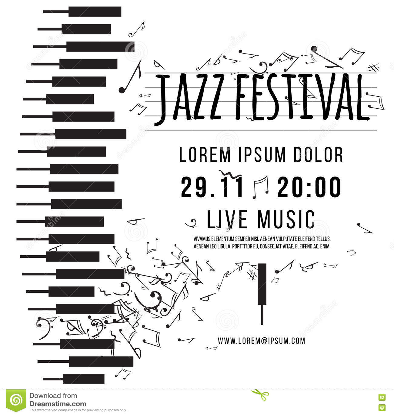 Poster design notes - Background Design Jazz Music Notes Poster