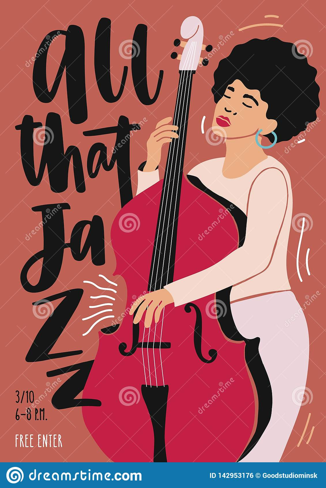 Jazz Music Performance, Concert Or Festival Advertisement