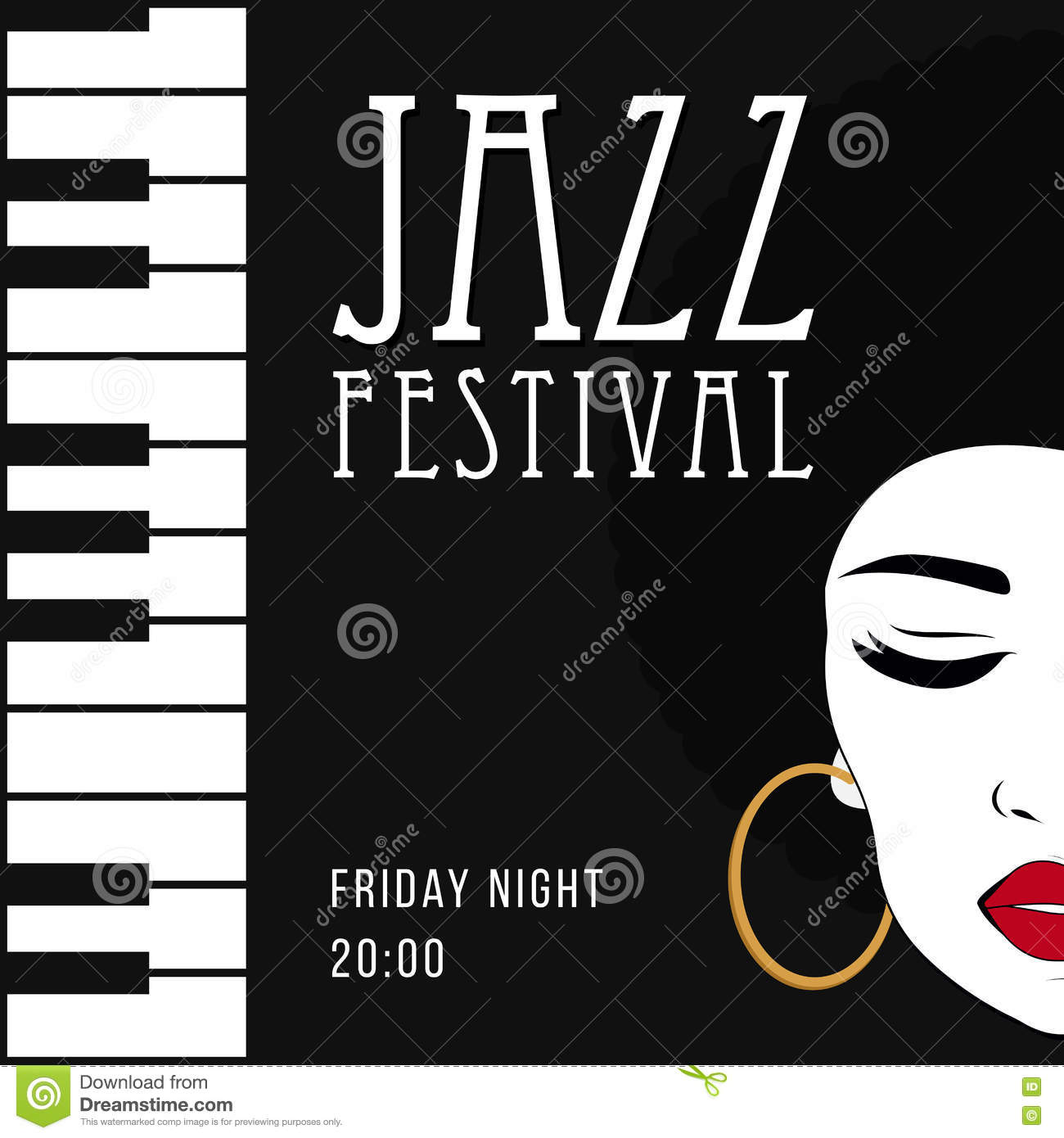 Jazz Music Poster Background Template Stock Illustration