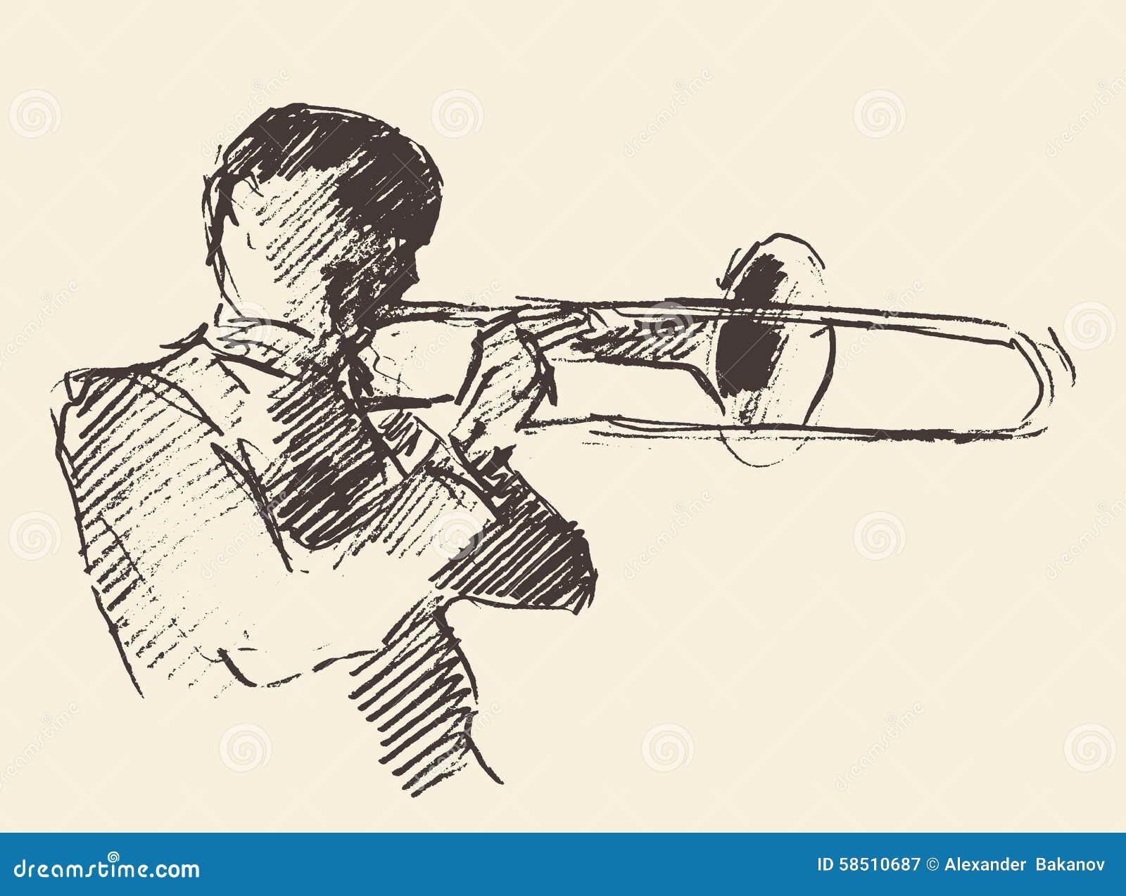 Jazz Poster Trombone Music Acoustic Stock Vector ...  Jazz Poster Tro...