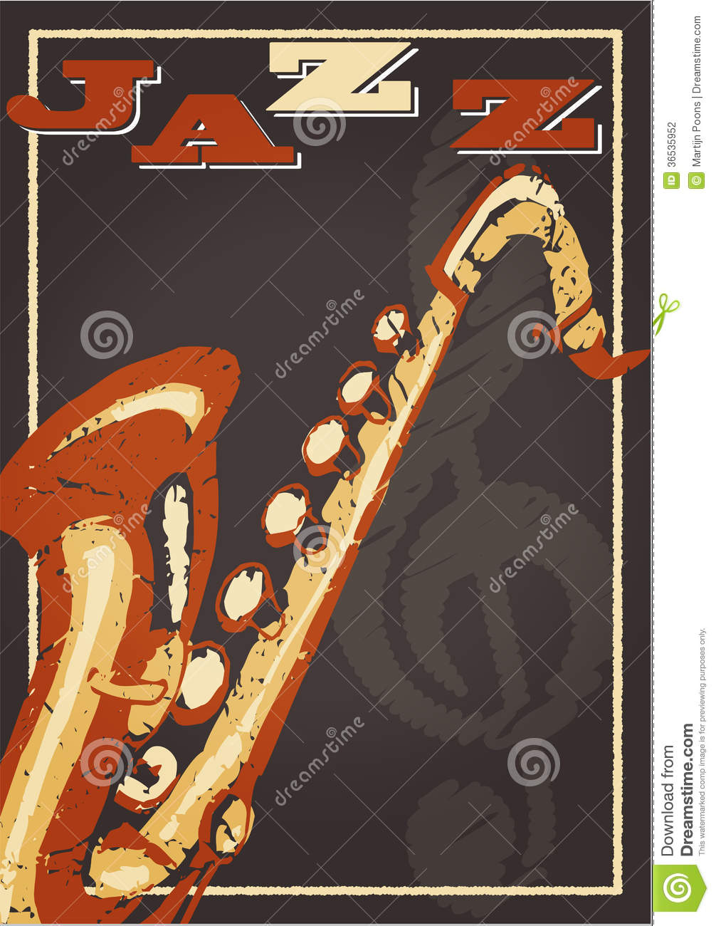 Jazz Poster Stock Photography - Image: 36535952