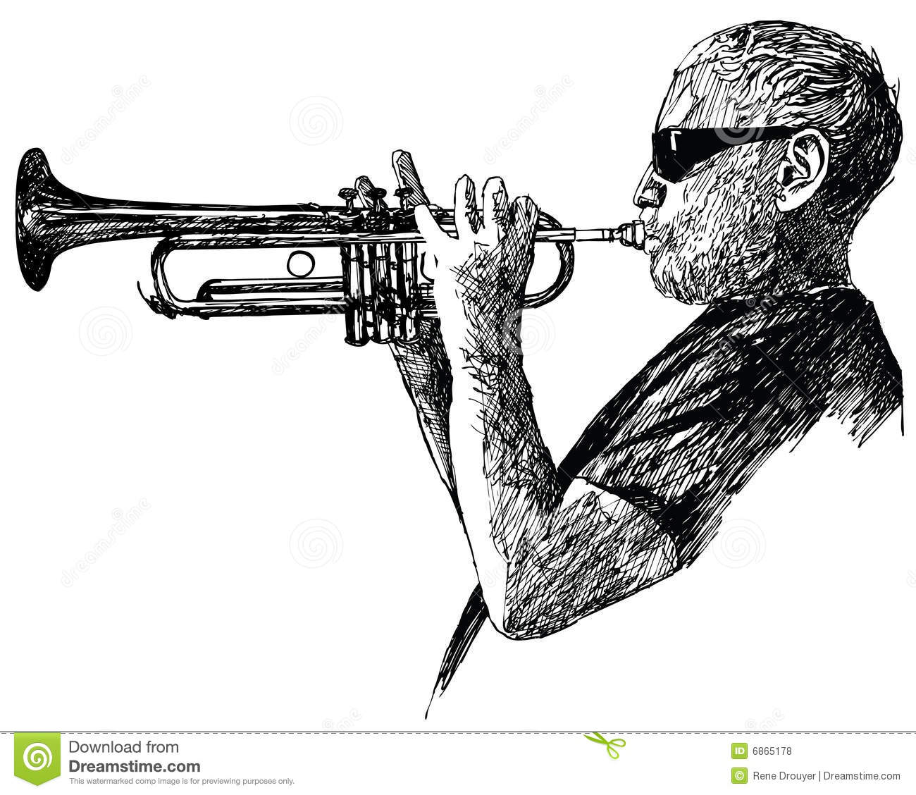 Jazz trumpet player stock vector  Illustration of band - 6865178