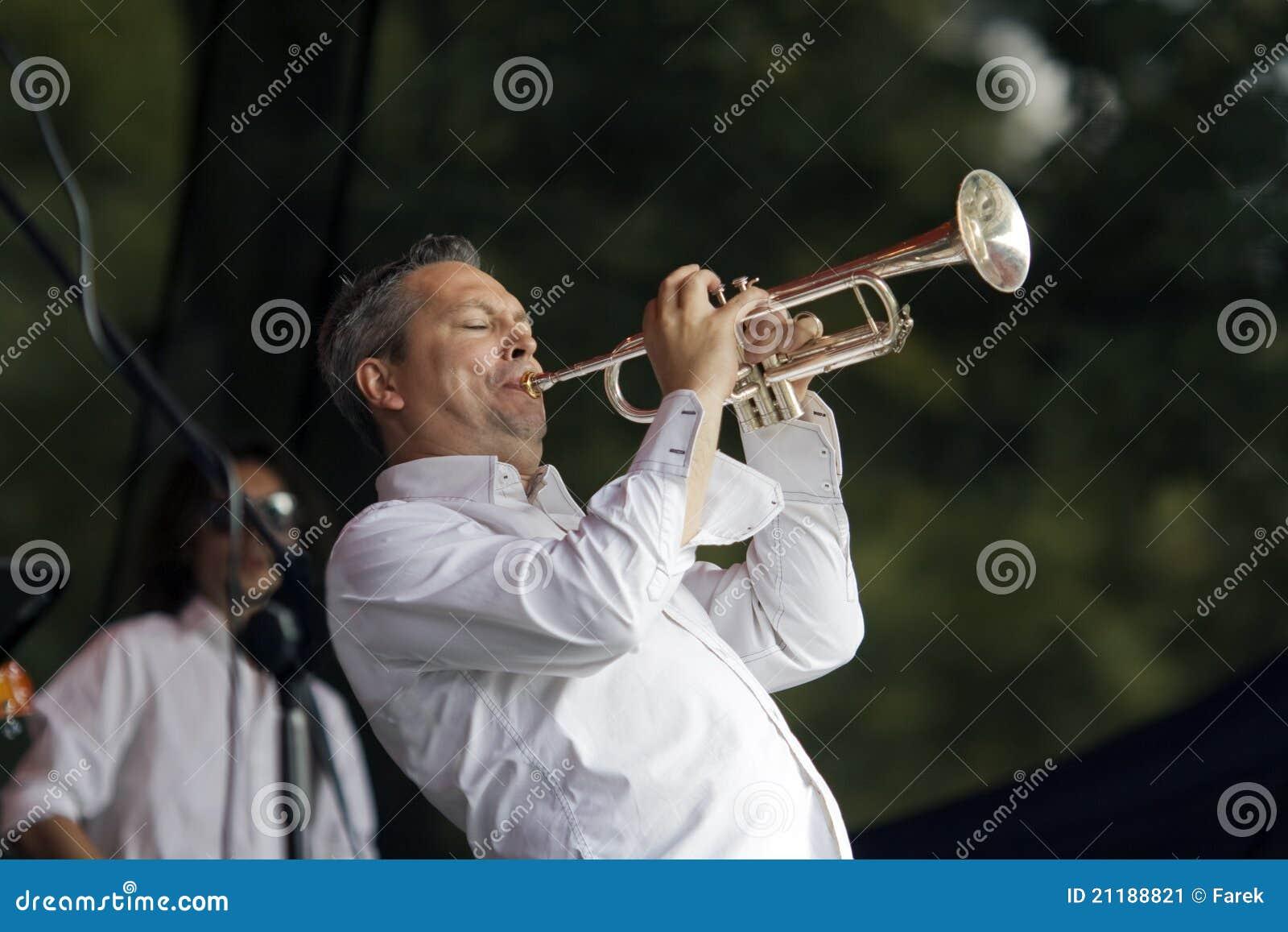 Jazz trumpeter