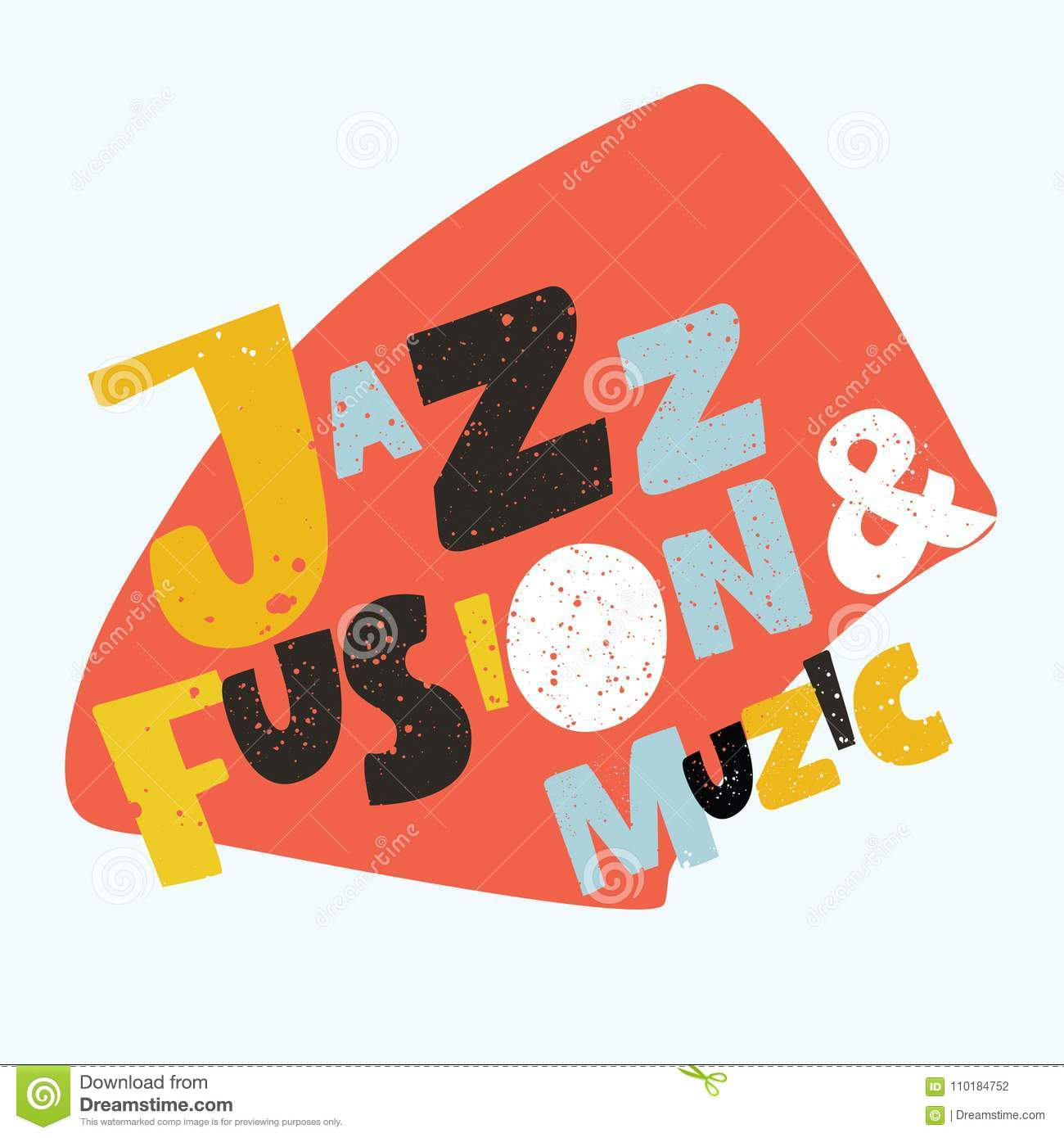 Jazz Typographic Vector Illustration Background  Music Vector Stock