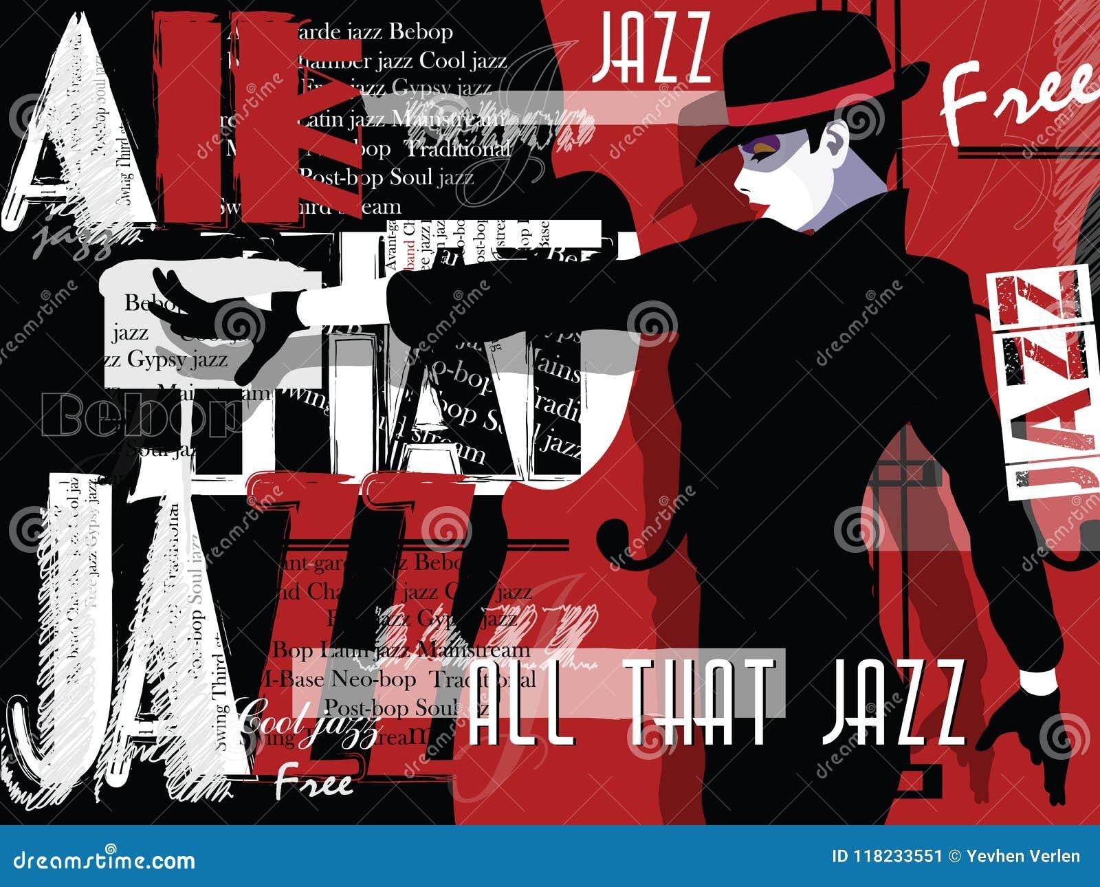 Jazzmusik, Plakathintergrundschablone