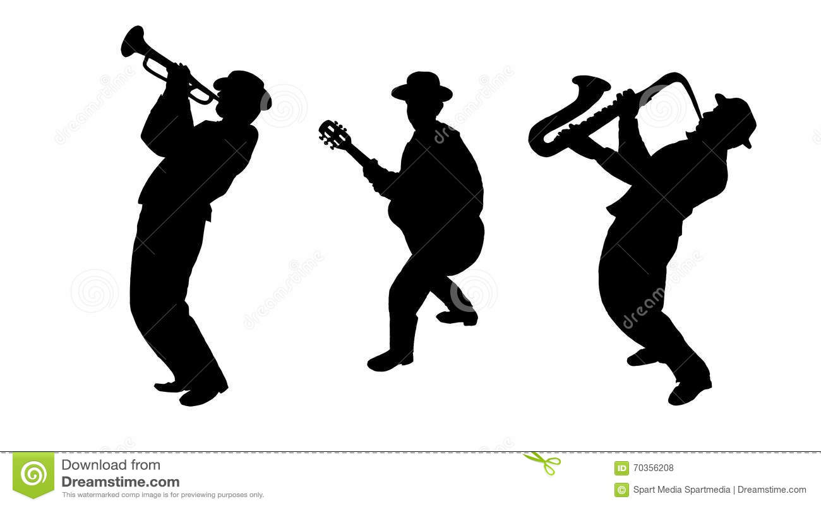 Jazzowi tercetów muzycy