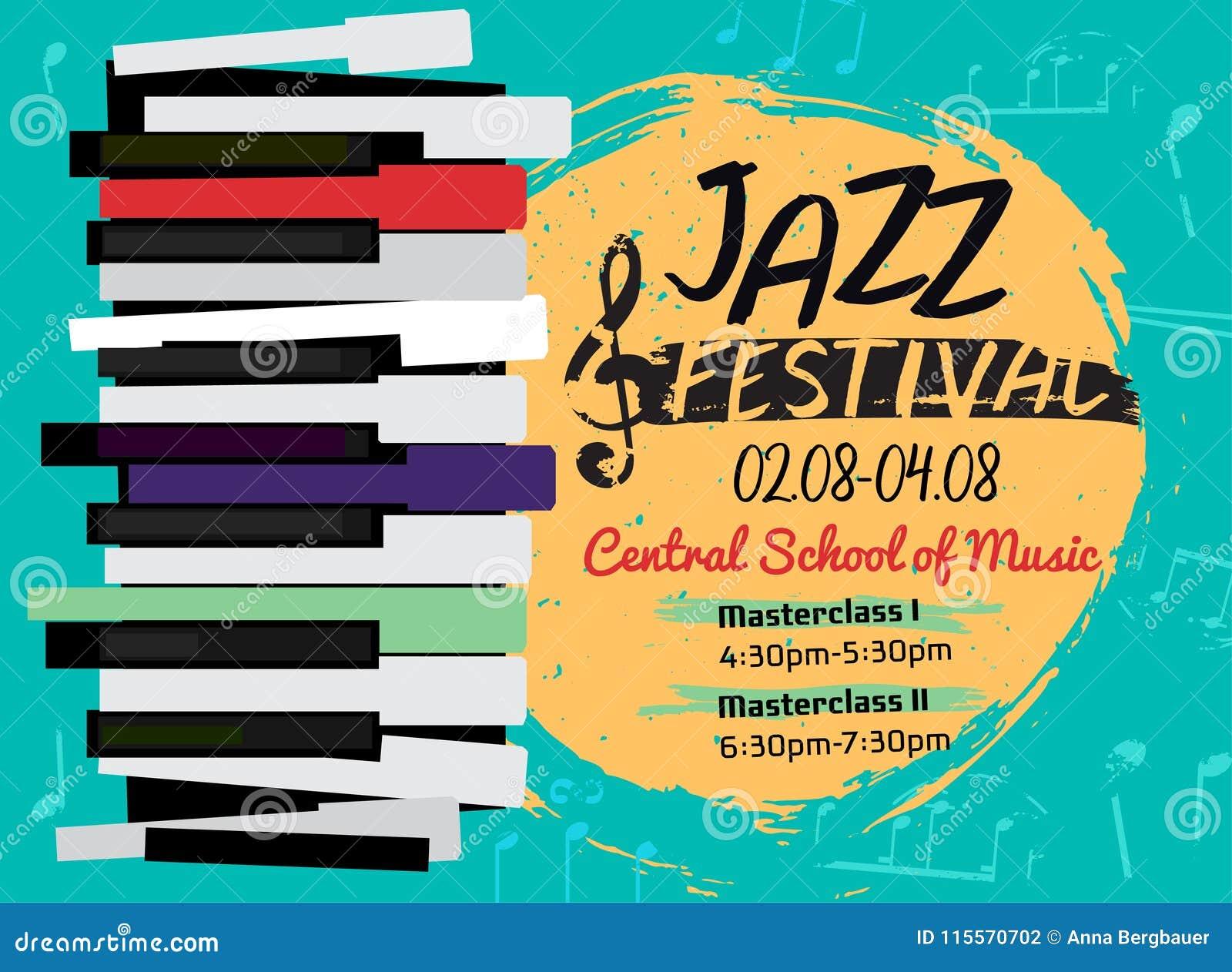Jazzowy plakatowy wizerunek