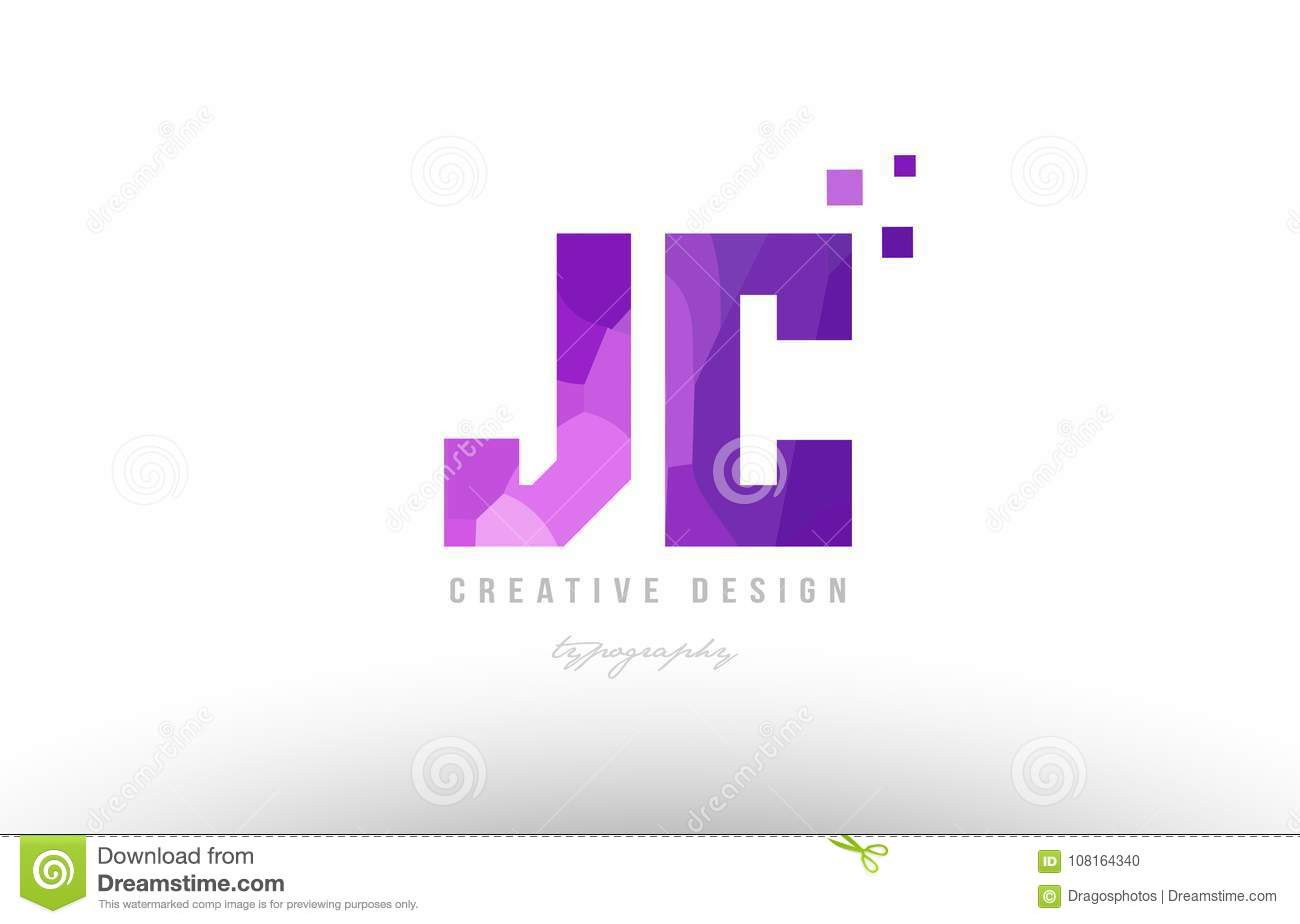 a394e2693c Design of alphabet letter logo jc j c with pink color and squares suitable  as an icon for a company or business. More similar stock illustrations
